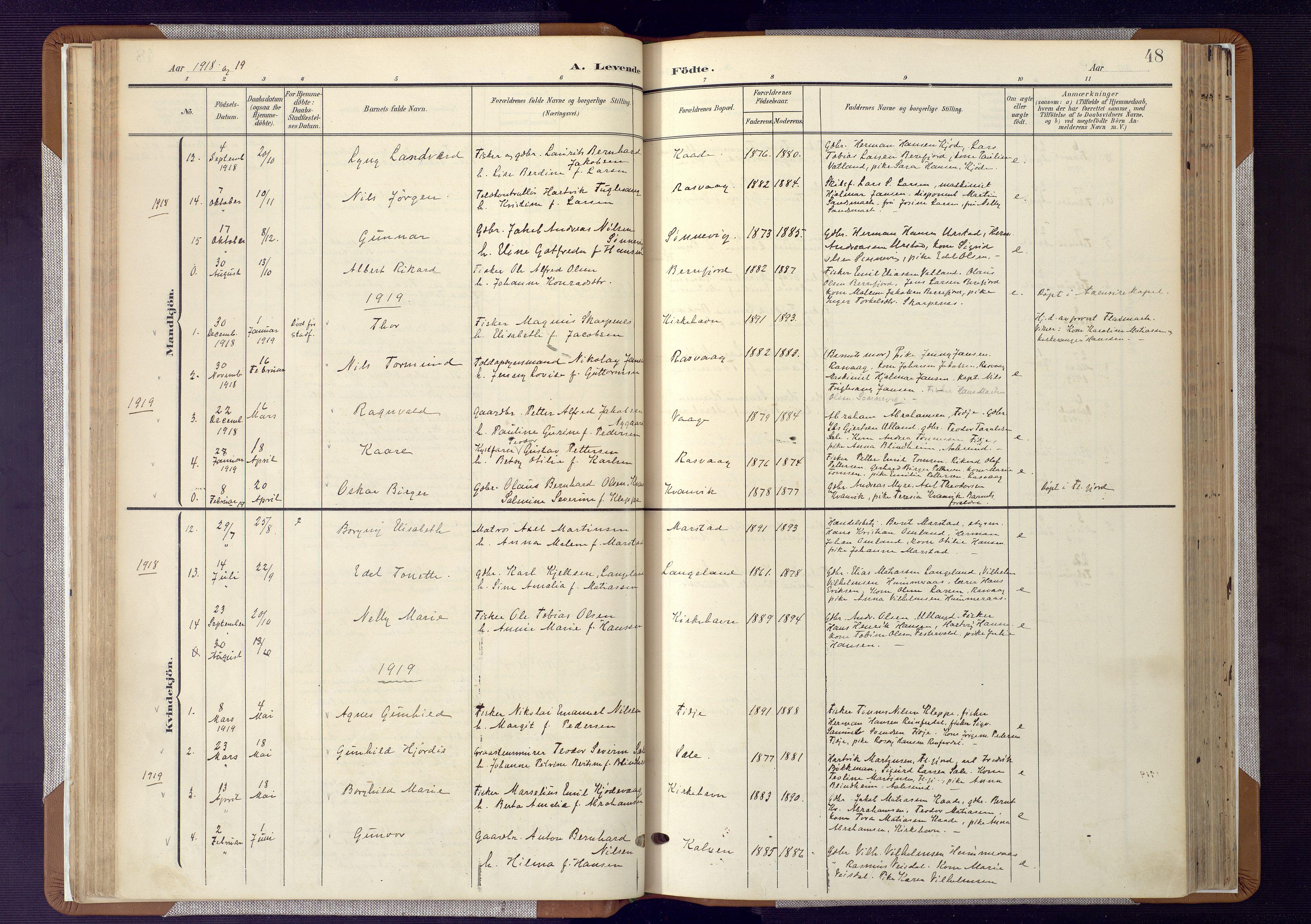 SAK, Flekkefjord sokneprestkontor, F/Fa/Fab/L0007: Ministerialbok nr. A 7, 1902-1921, s. 48