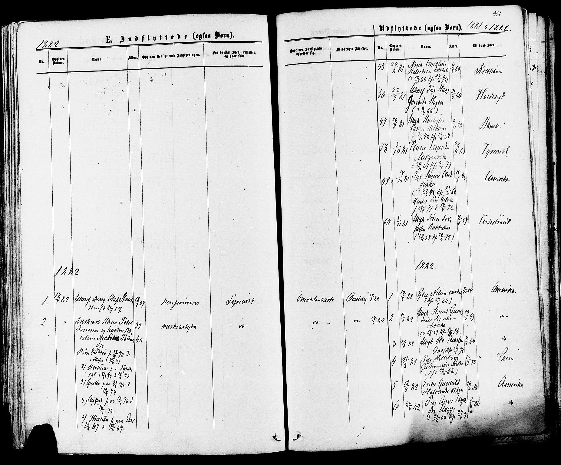 SAKO, Mo kirkebøker, F/Fa/L0006: Ministerialbok nr. I 6, 1865-1885, s. 351