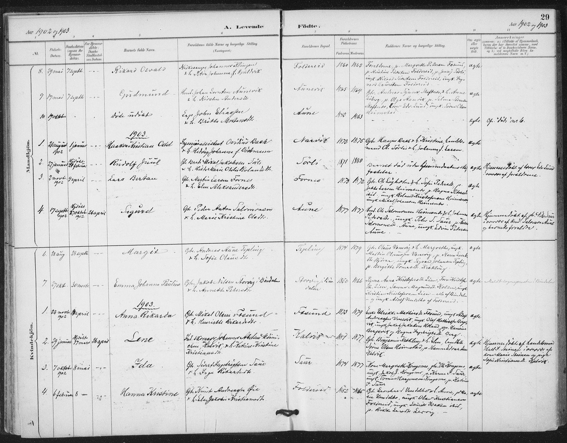 SAT, Ministerialprotokoller, klokkerbøker og fødselsregistre - Nord-Trøndelag, 783/L0660: Ministerialbok nr. 783A02, 1886-1918, s. 29