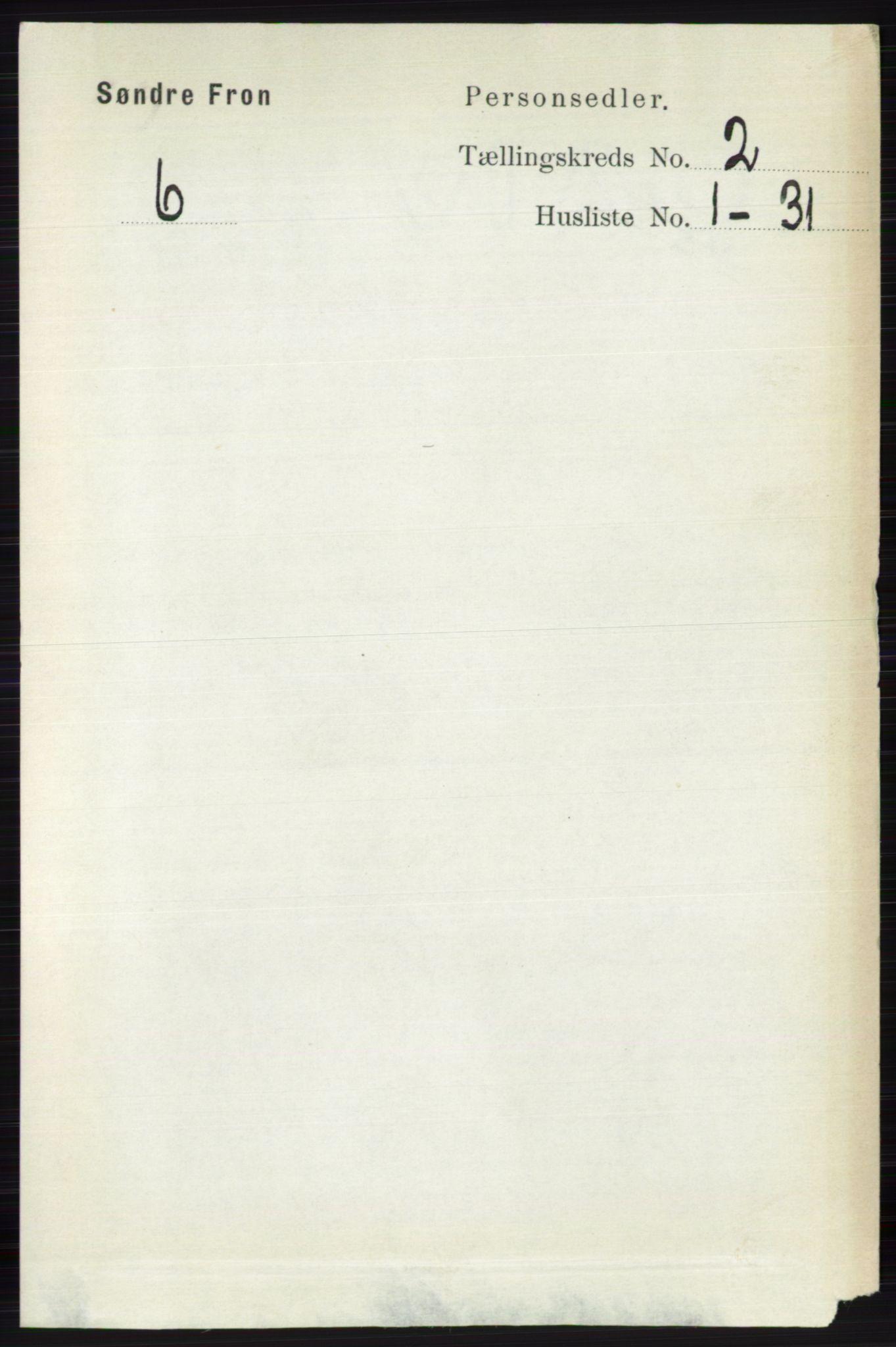 RA, Folketelling 1891 for 0519 Sør-Fron herred, 1891, s. 561