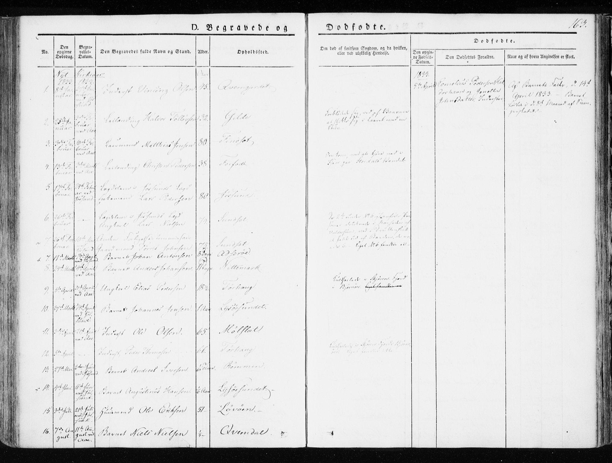 SAT, Ministerialprotokoller, klokkerbøker og fødselsregistre - Sør-Trøndelag, 655/L0676: Ministerialbok nr. 655A05, 1830-1847, s. 163