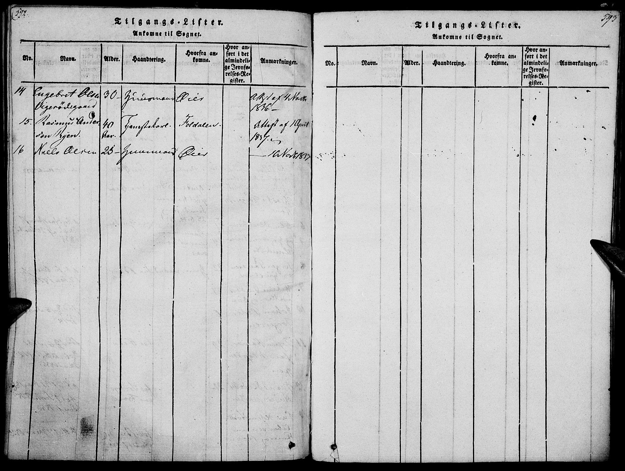 SAH, Ringebu prestekontor, Ministerialbok nr. 4, 1821-1839, s. 592-593