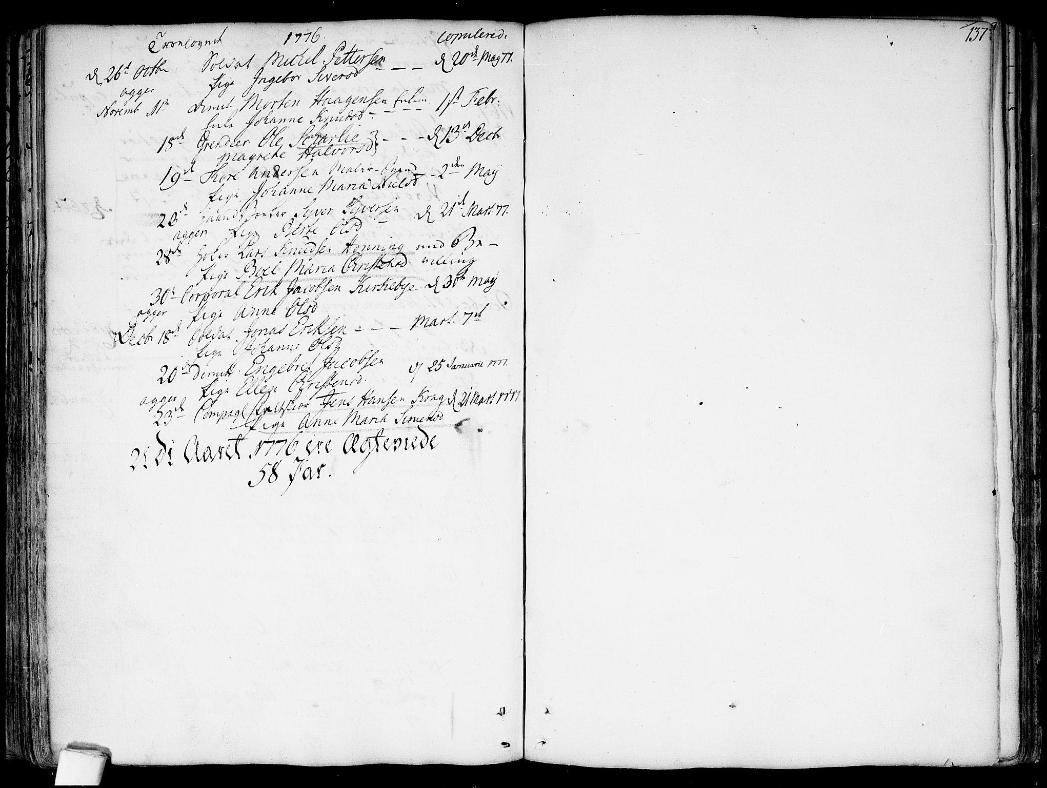 SAO, Garnisonsmenigheten Kirkebøker, F/Fa/L0002: Ministerialbok nr. 2, 1757-1776, s. 137