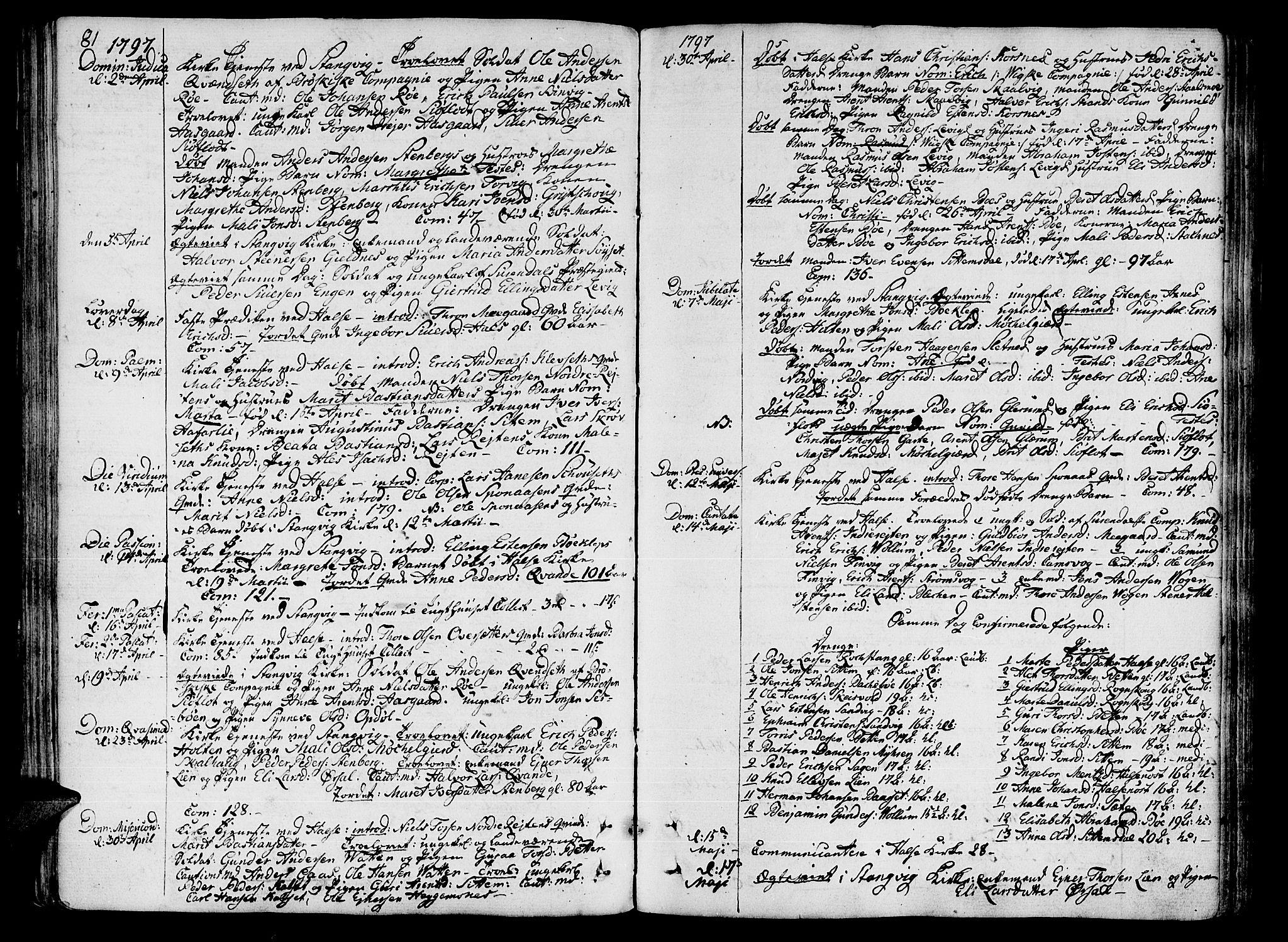 SAT, Ministerialprotokoller, klokkerbøker og fødselsregistre - Møre og Romsdal, 592/L1022: Ministerialbok nr. 592A01, 1784-1819, s. 81