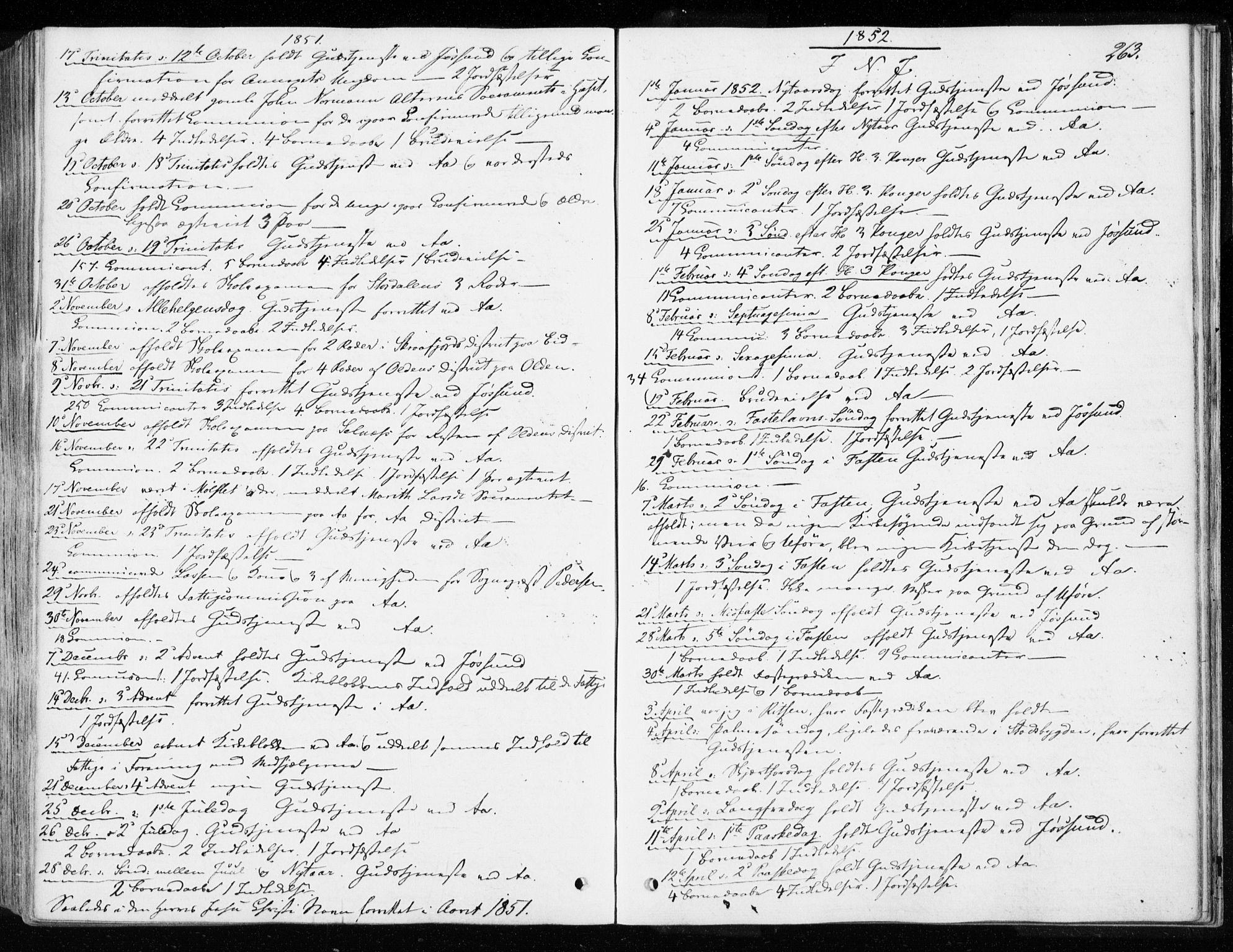 SAT, Ministerialprotokoller, klokkerbøker og fødselsregistre - Sør-Trøndelag, 655/L0677: Ministerialbok nr. 655A06, 1847-1860, s. 263