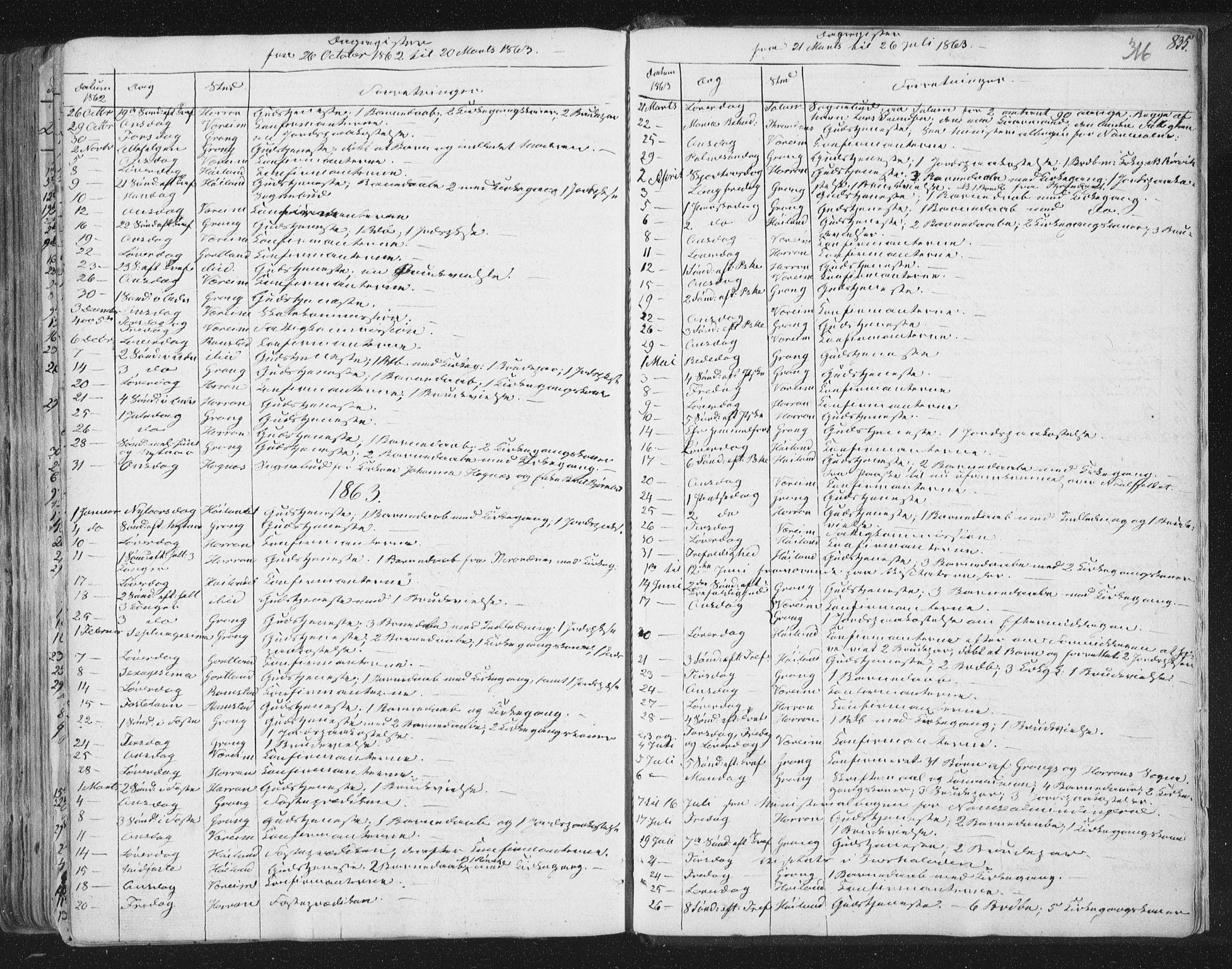 SAT, Ministerialprotokoller, klokkerbøker og fødselsregistre - Nord-Trøndelag, 758/L0513: Ministerialbok nr. 758A02 /1, 1839-1868, s. 316