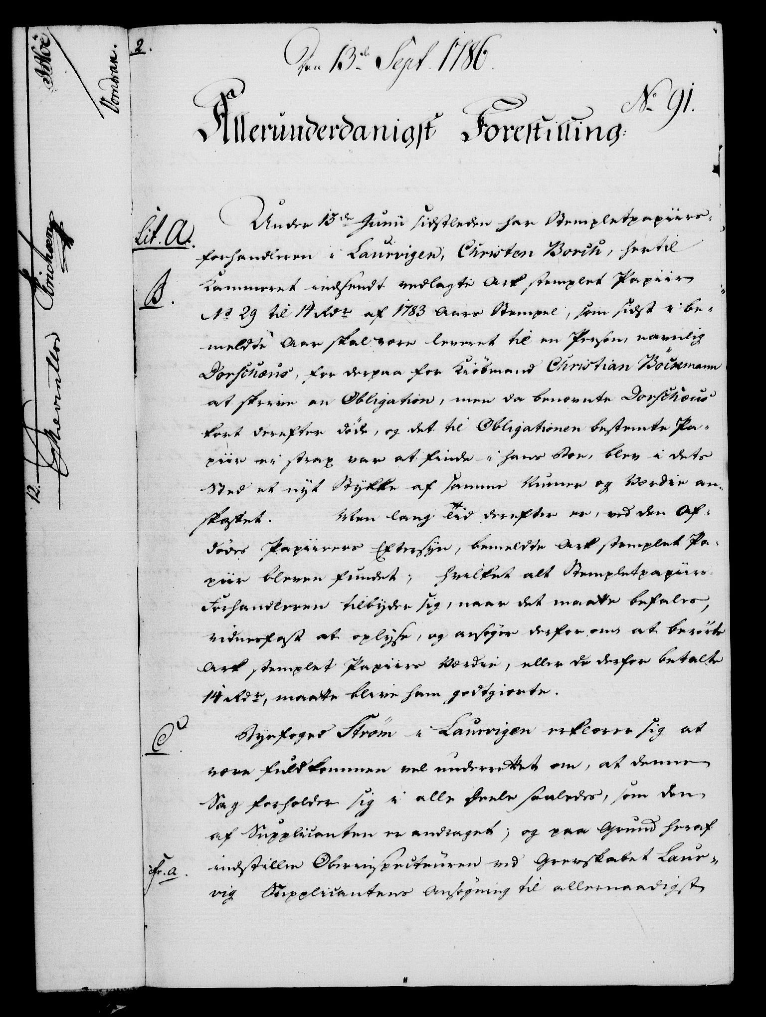 RA, Rentekammeret, Kammerkanselliet, G/Gf/Gfa/L0068: Norsk relasjons- og resolusjonsprotokoll (merket RK 52.68), 1786, s. 815