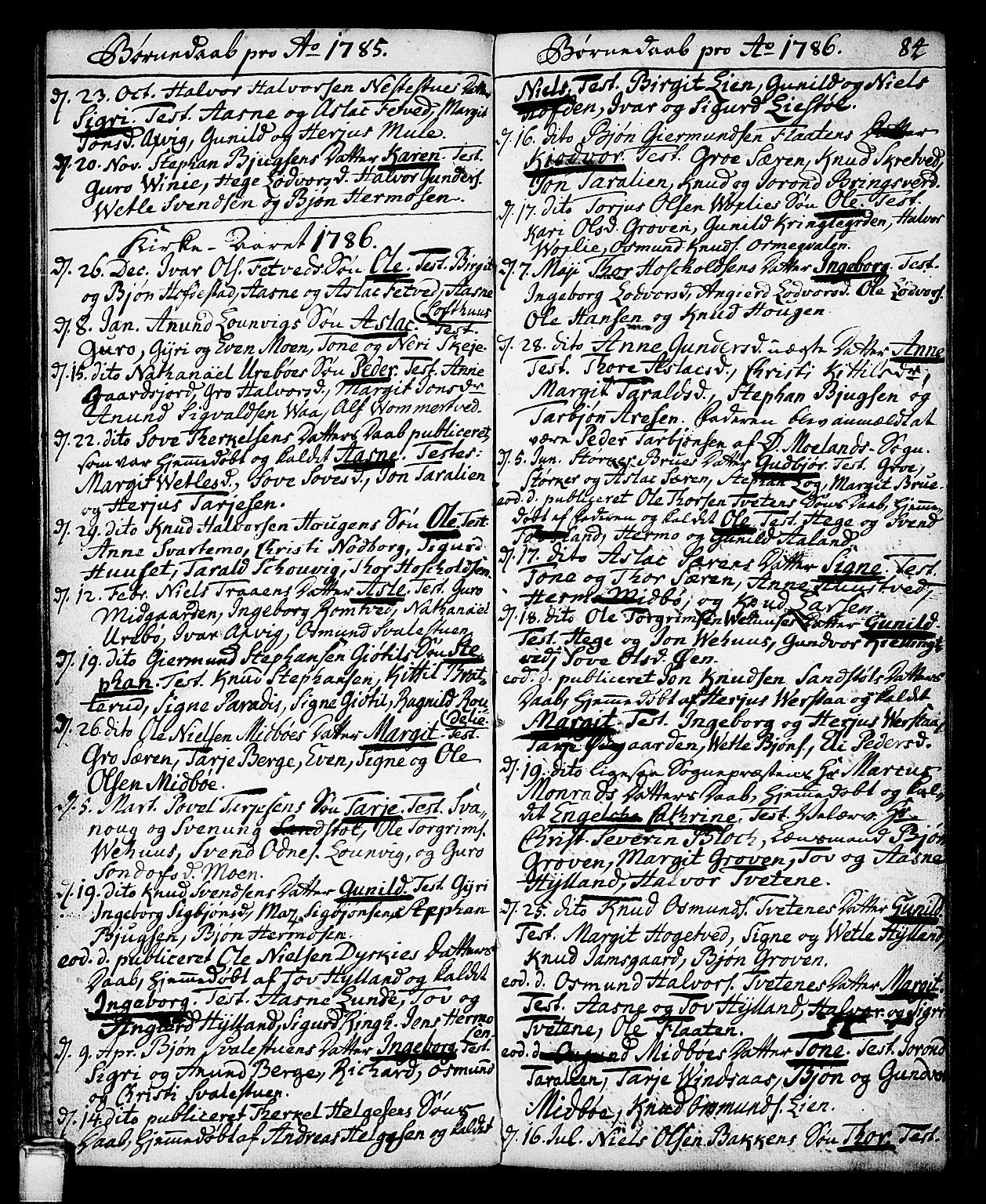 SAKO, Vinje kirkebøker, F/Fa/L0002: Ministerialbok nr. I 2, 1767-1814, s. 84