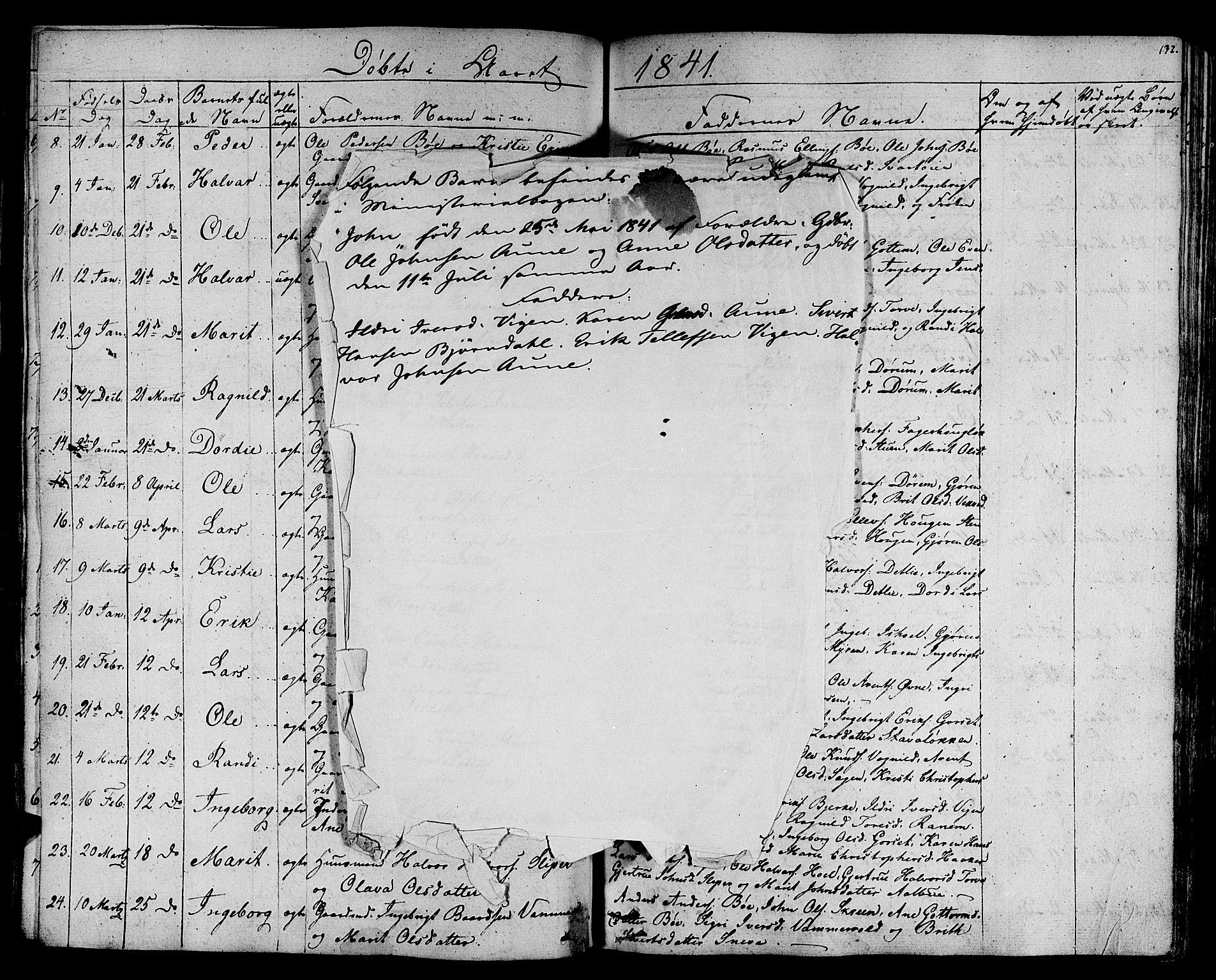 SAT, Ministerialprotokoller, klokkerbøker og fødselsregistre - Sør-Trøndelag, 678/L0897: Ministerialbok nr. 678A06-07, 1821-1847, s. 132