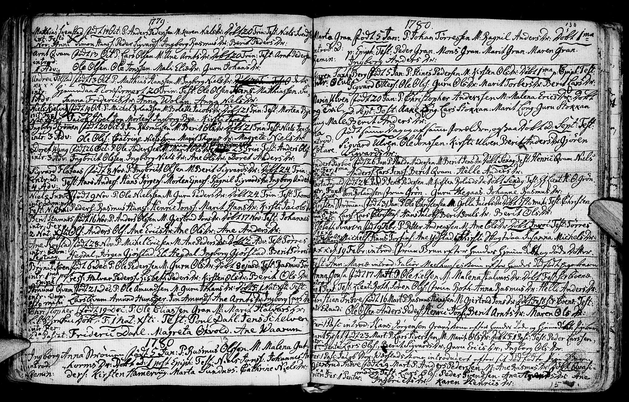 SAT, Ministerialprotokoller, klokkerbøker og fødselsregistre - Nord-Trøndelag, 730/L0273: Ministerialbok nr. 730A02, 1762-1802, s. 130