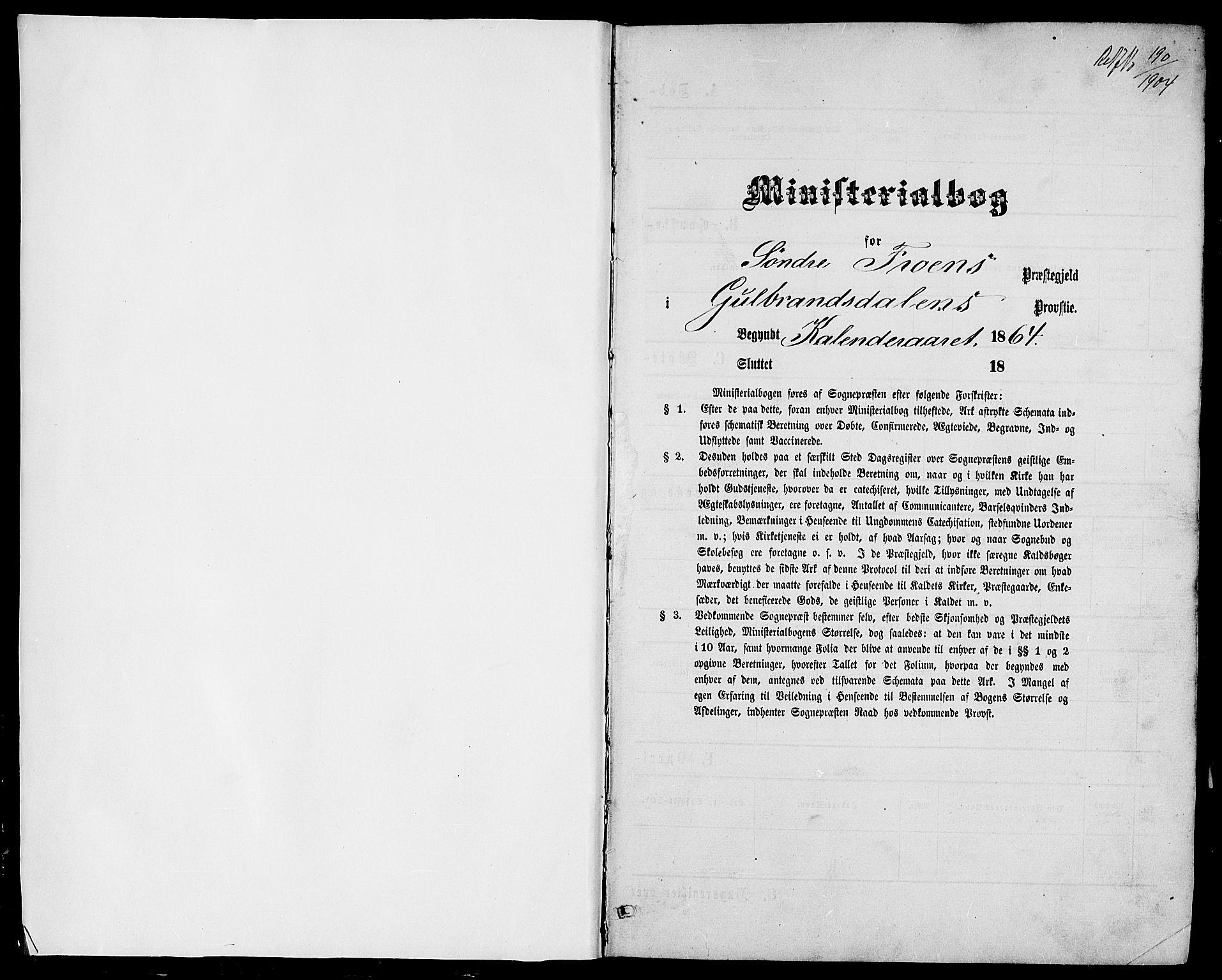 SAH, Sør-Fron prestekontor, H/Ha/Hab/L0002: Klokkerbok nr. 2, 1864-1883