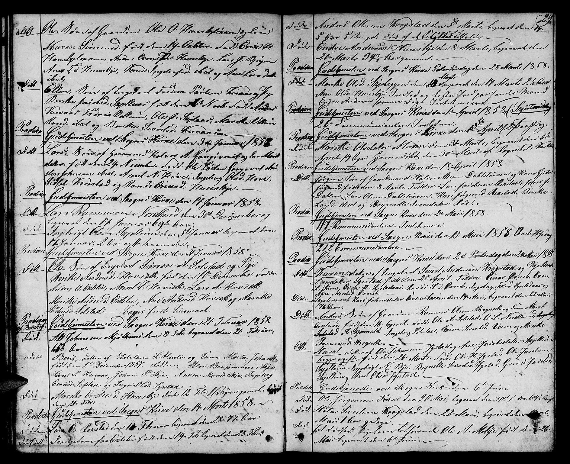 SAT, Ministerialprotokoller, klokkerbøker og fødselsregistre - Sør-Trøndelag, 667/L0797: Klokkerbok nr. 667C02, 1849-1867, s. 29