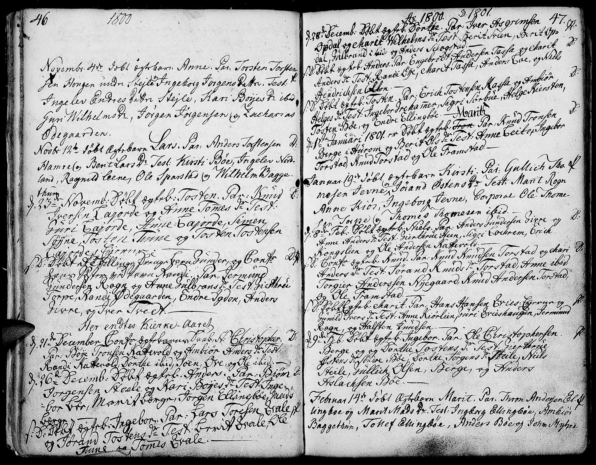 SAH, Vang prestekontor, Valdres, Ministerialbok nr. 2, 1796-1808, s. 46-47