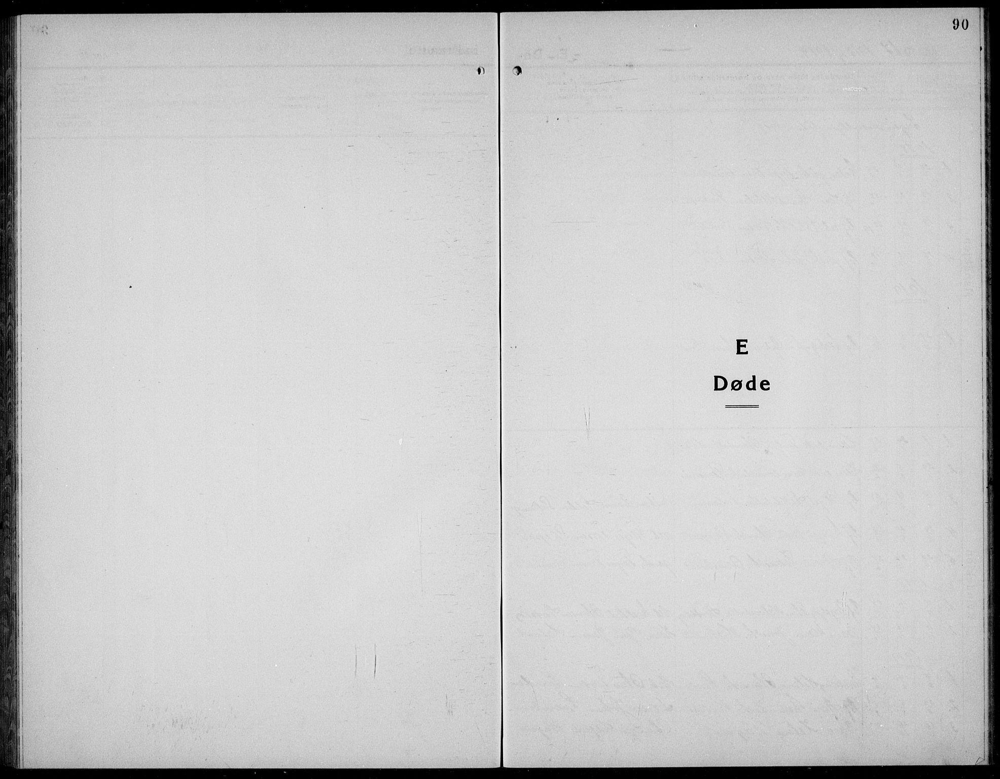 SAKO, Kviteseid kirkebøker, G/Gc/L0002: Klokkerbok nr. III 2, 1917-1937, s. 90