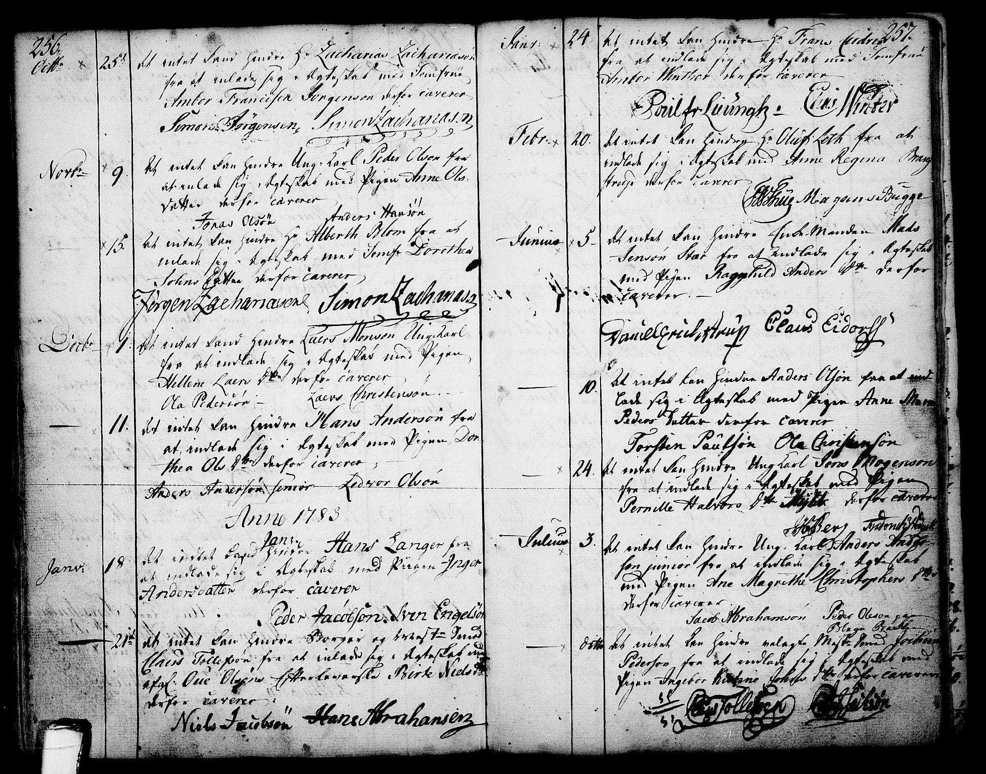 SAKO, Skien kirkebøker, F/Fa/L0003: Ministerialbok nr. 3, 1755-1791, s. 256-257