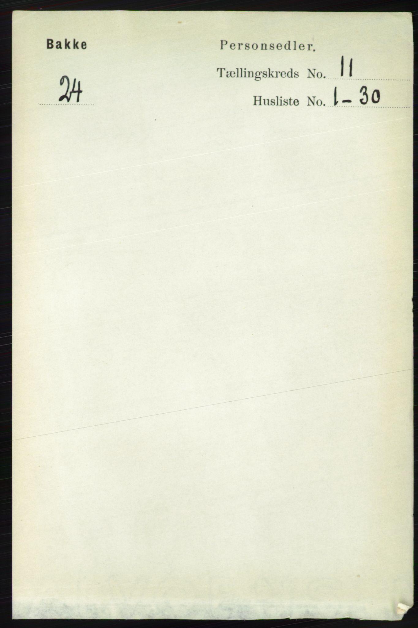 RA, Folketelling 1891 for 1045 Bakke herred, 1891, s. 2235