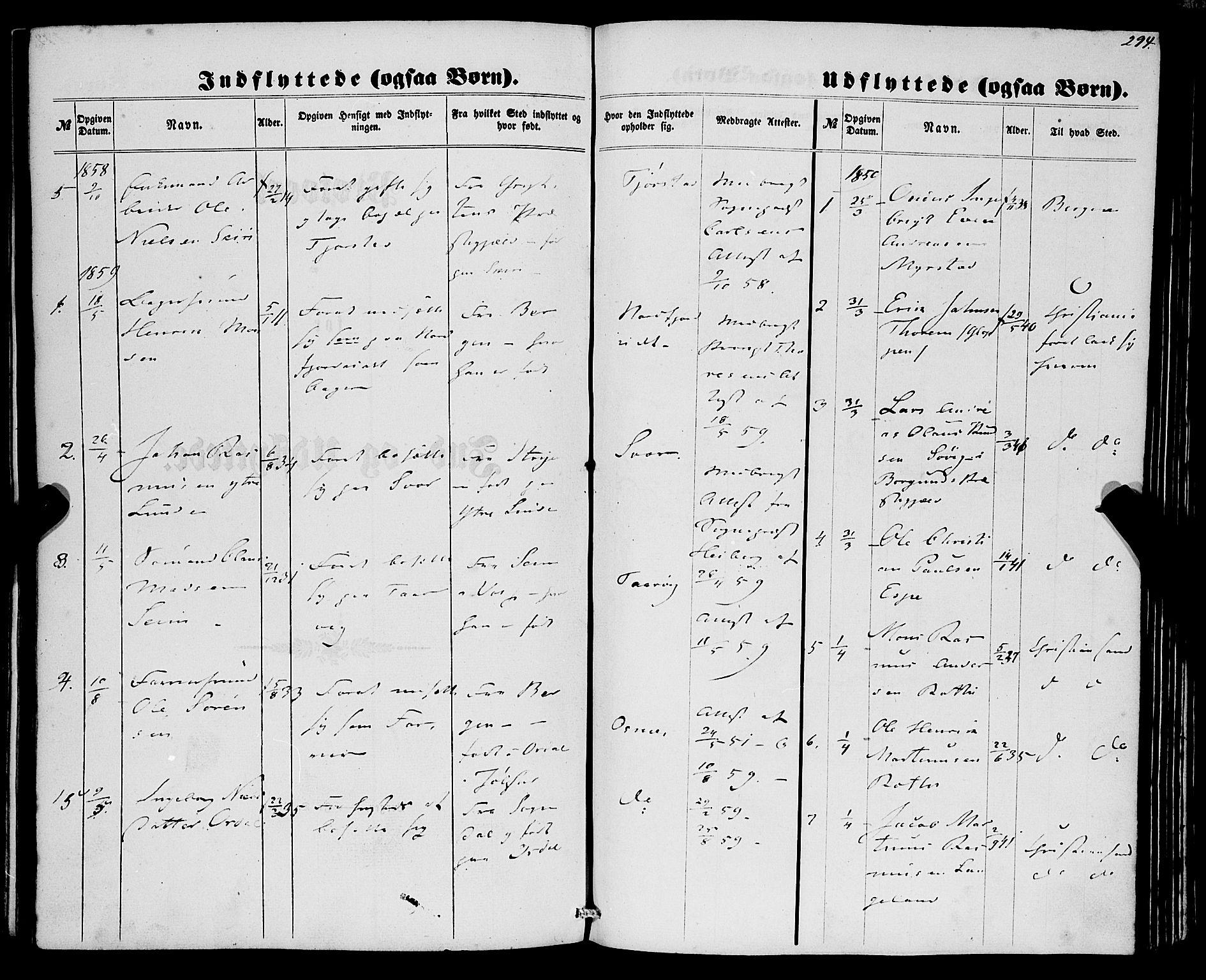 SAB, Eid Sokneprestembete, H/Haa: Ministerialbok nr. A 8, 1858-1860, s. 294