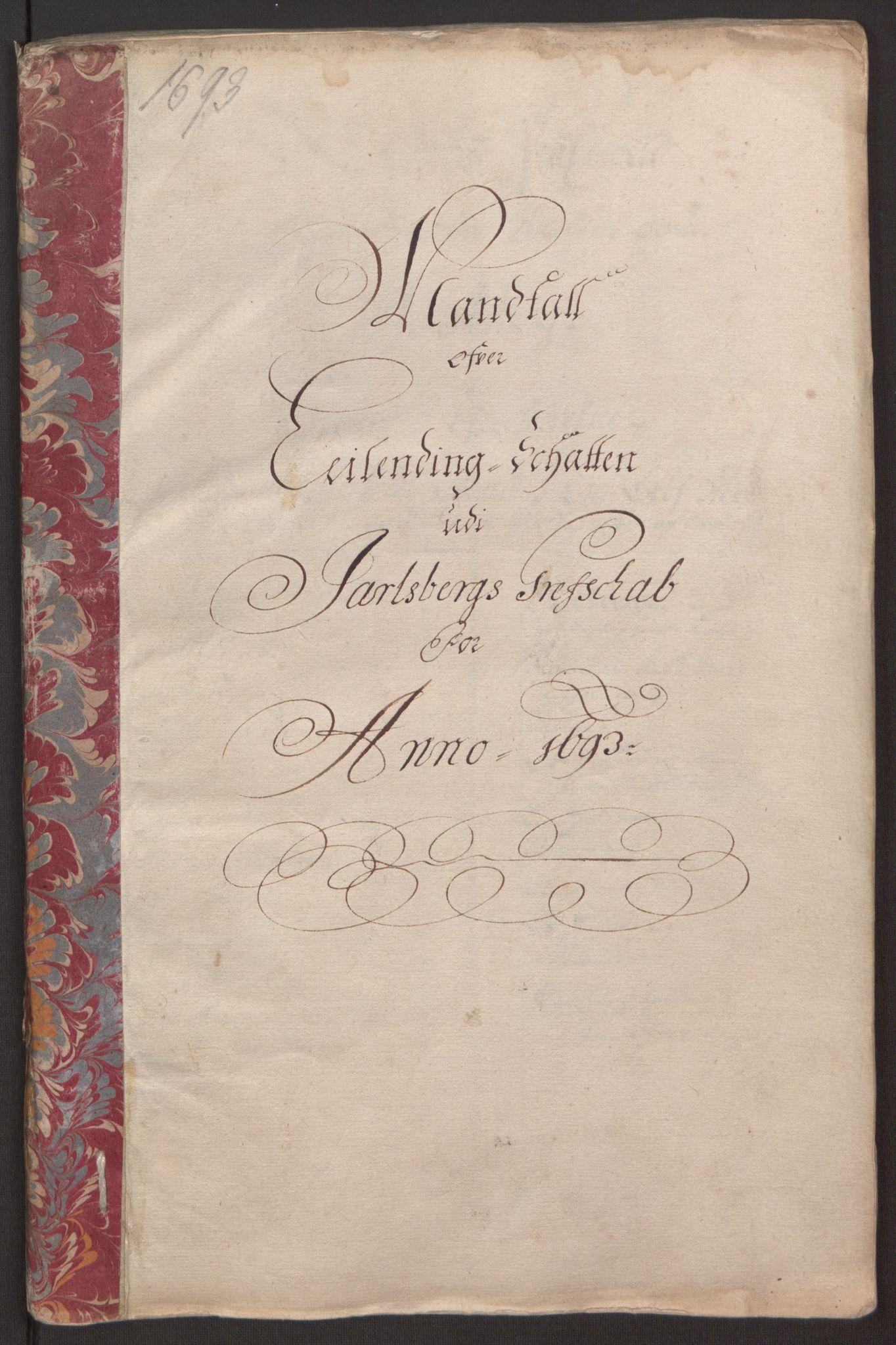 RA, Rentekammeret inntil 1814, Reviderte regnskaper, Fogderegnskap, R32/L1866: Fogderegnskap Jarlsberg grevskap, 1693, s. 29