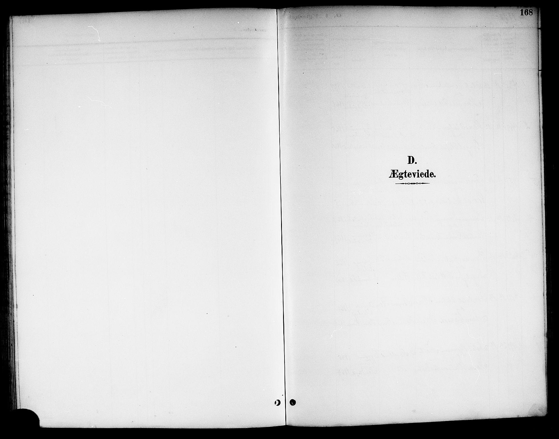SAKO, Kviteseid kirkebøker, G/Ga/L0002: Klokkerbok nr. I 2, 1893-1918, s. 168