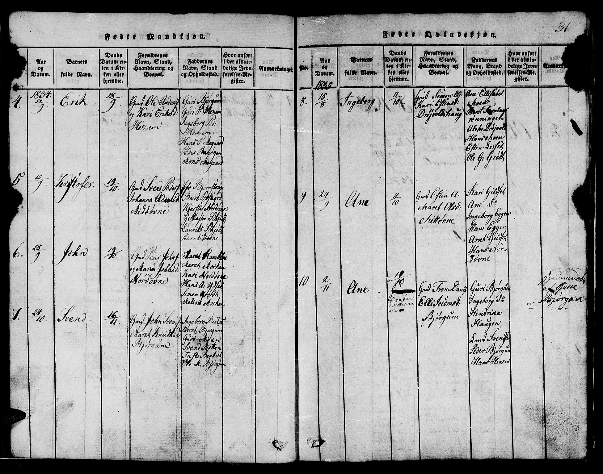 SAT, Ministerialprotokoller, klokkerbøker og fødselsregistre - Sør-Trøndelag, 685/L0976: Klokkerbok nr. 685C01, 1817-1878, s. 31