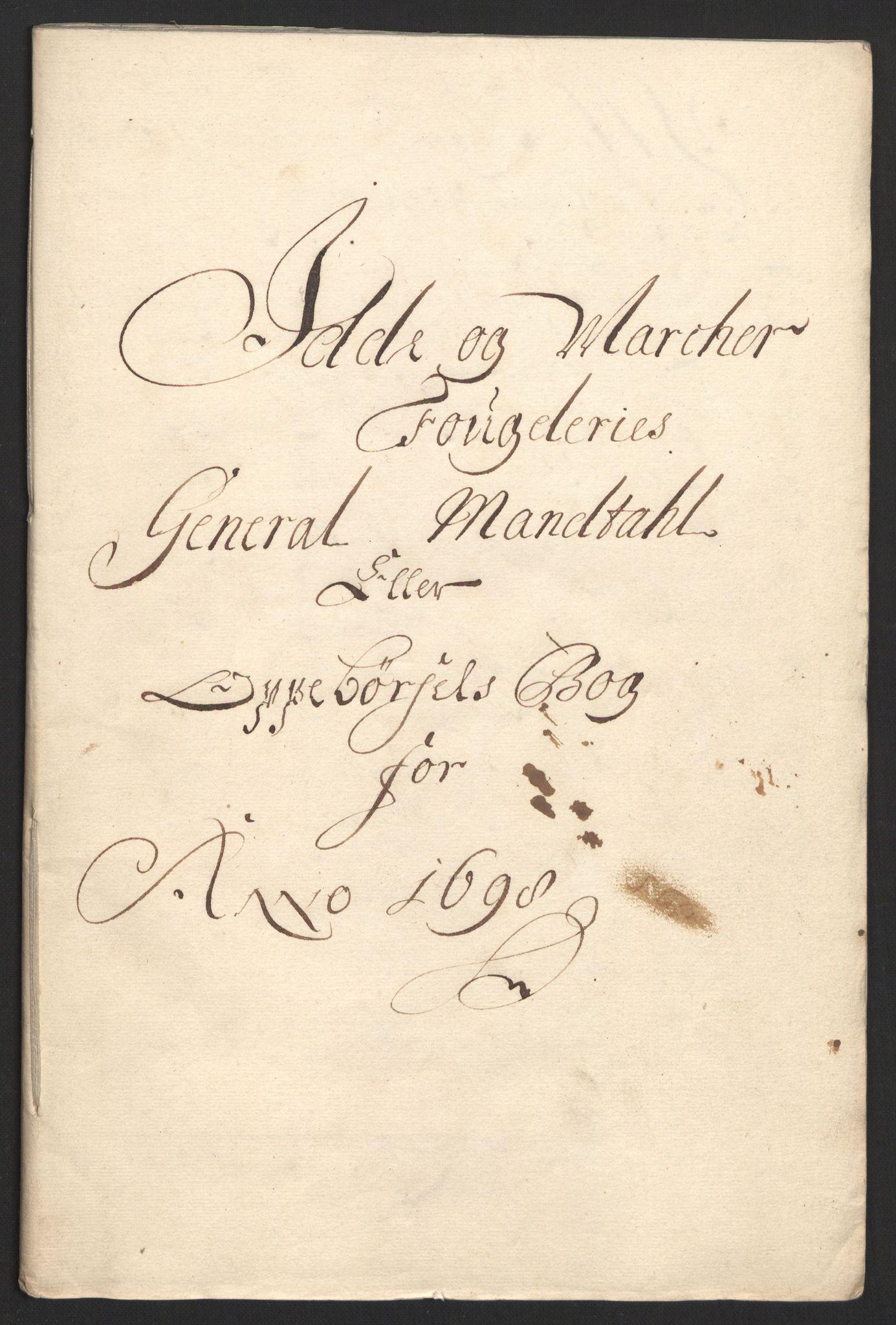 RA, Rentekammeret inntil 1814, Reviderte regnskaper, Fogderegnskap, R01/L0013: Fogderegnskap Idd og Marker, 1696-1698, s. 293
