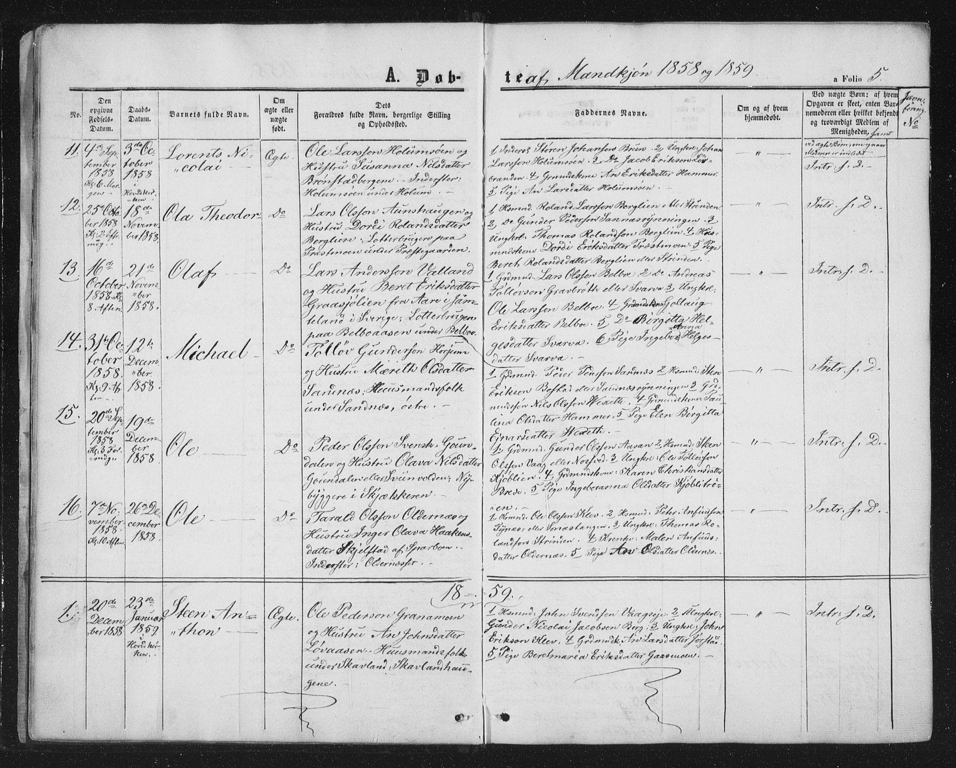 SAT, Ministerialprotokoller, klokkerbøker og fødselsregistre - Nord-Trøndelag, 749/L0472: Ministerialbok nr. 749A06, 1857-1873, s. 5