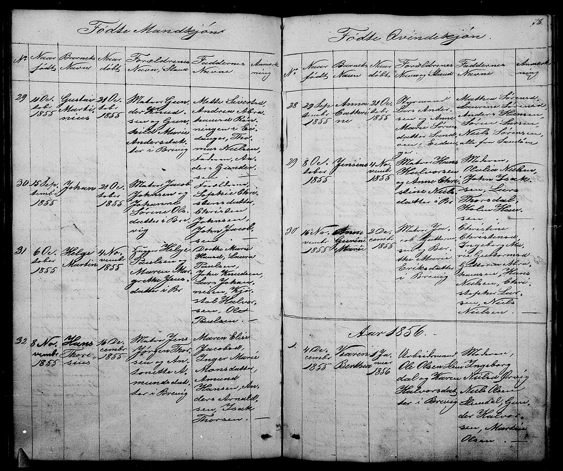 SAKO, Brevik kirkebøker, G/Ga/L0002: Klokkerbok nr. 2, 1846-1865, s. 78