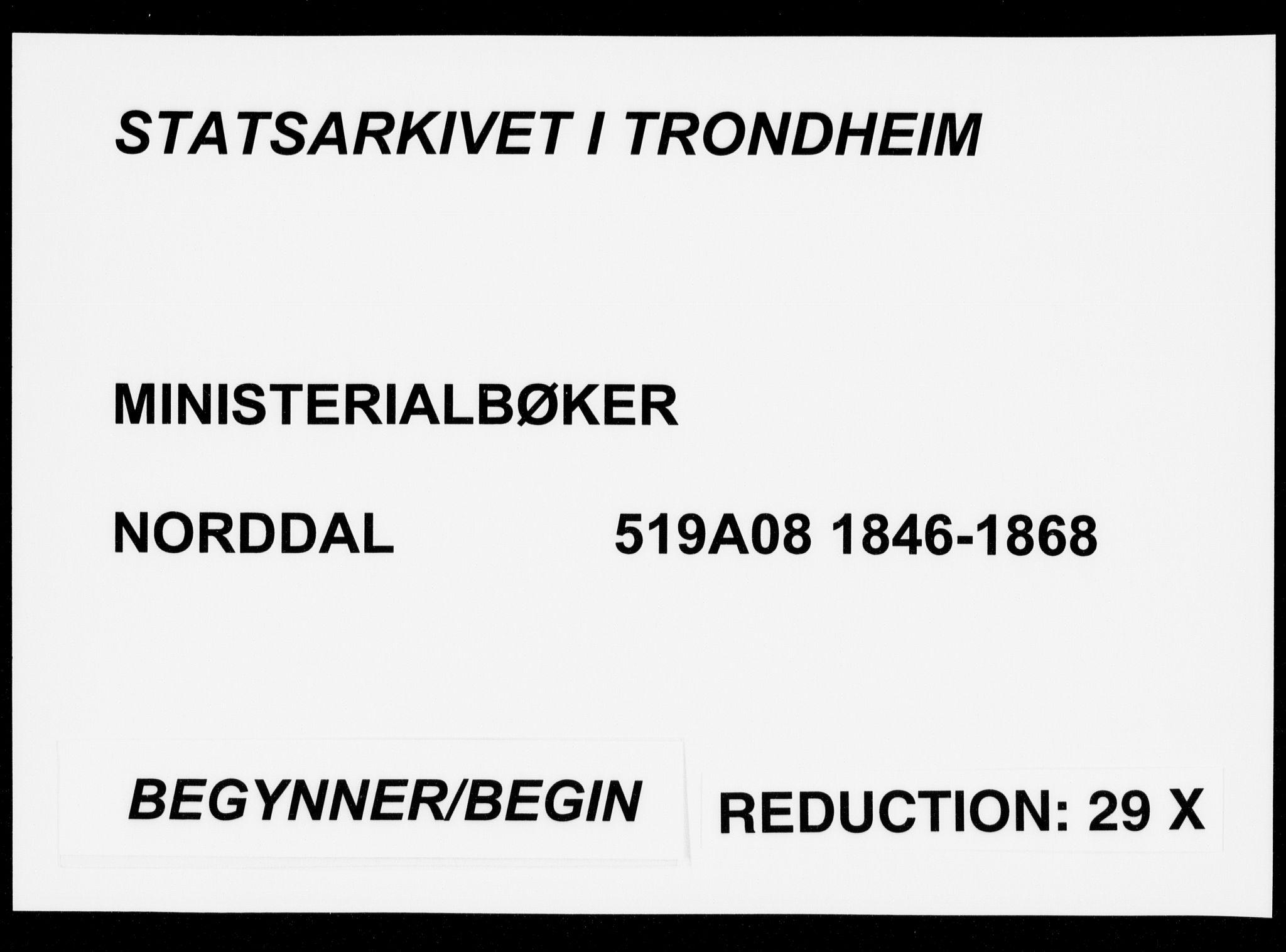 SAT, Ministerialprotokoller, klokkerbøker og fødselsregistre - Møre og Romsdal, 519/L0249: Ministerialbok nr. 519A08, 1846-1868