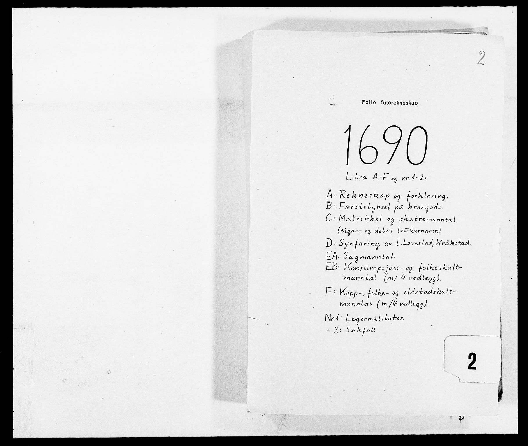 RA, Rentekammeret inntil 1814, Reviderte regnskaper, Fogderegnskap, R09/L0435: Fogderegnskap Follo, 1689-1691, s. 206