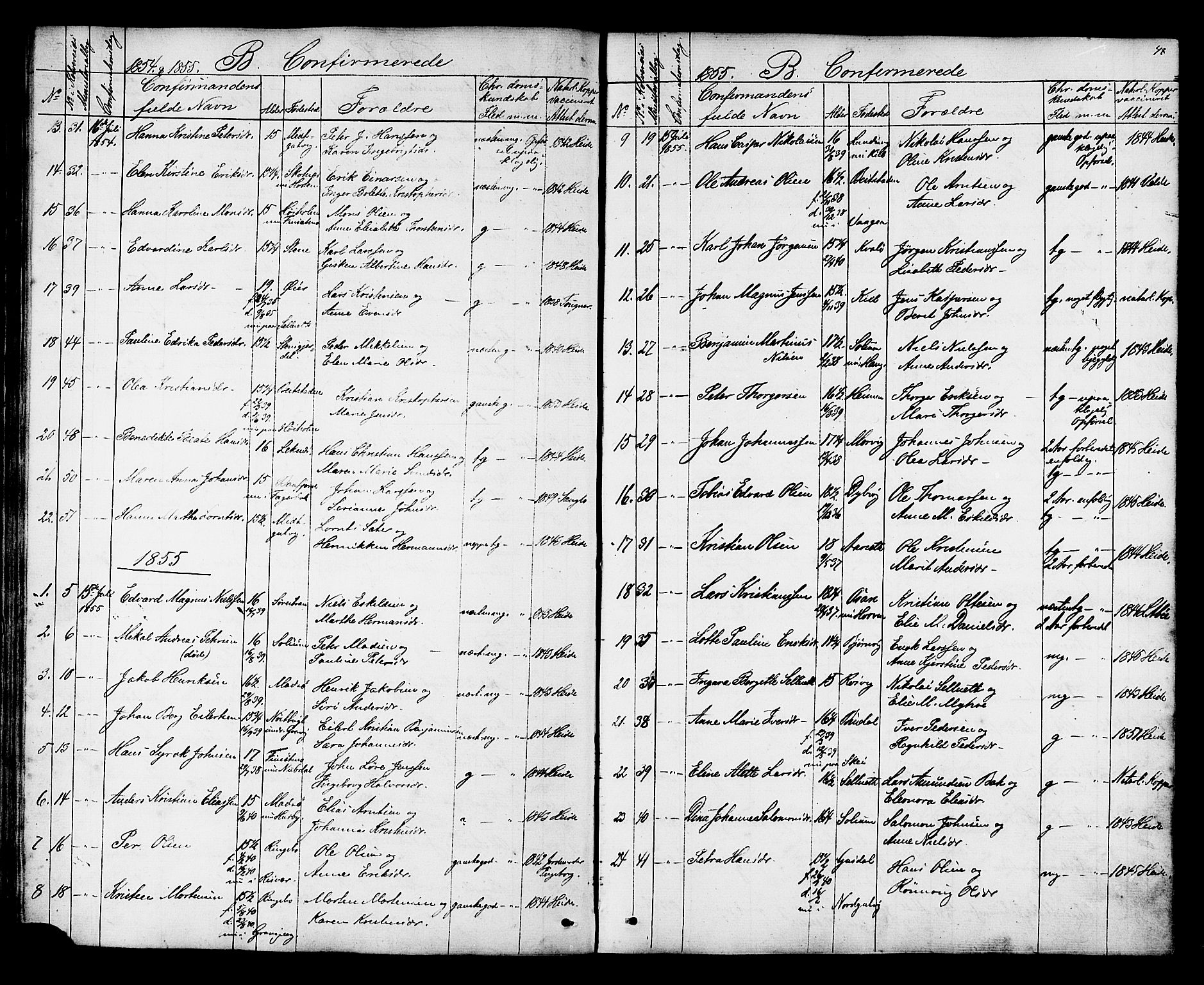 SAT, Ministerialprotokoller, klokkerbøker og fødselsregistre - Nord-Trøndelag, 788/L0695: Ministerialbok nr. 788A02, 1843-1862, s. 48