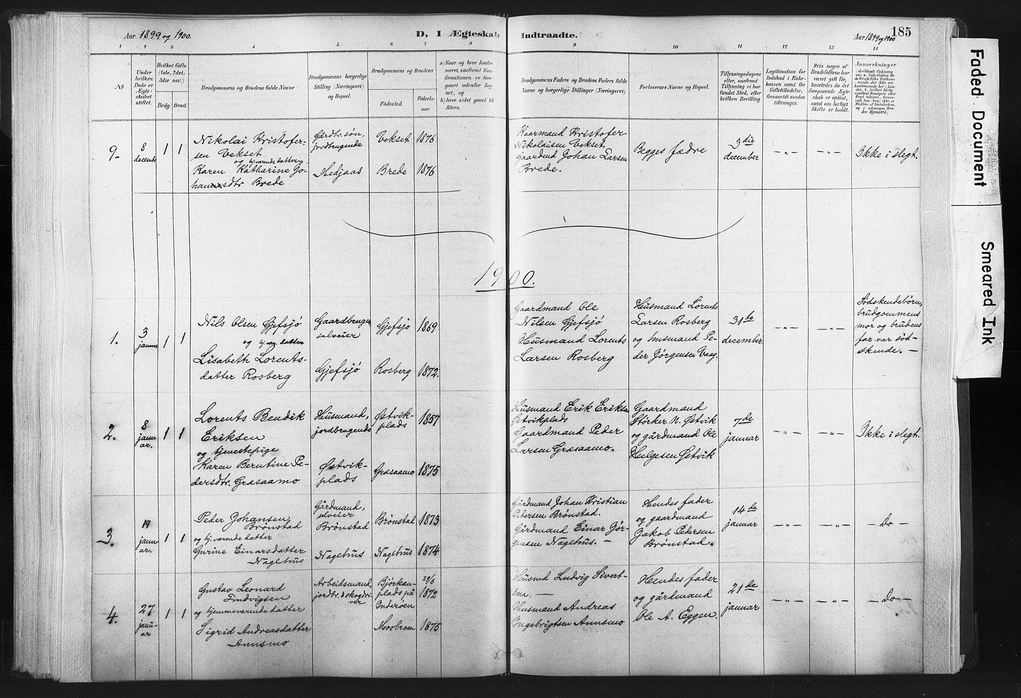 SAT, Ministerialprotokoller, klokkerbøker og fødselsregistre - Nord-Trøndelag, 749/L0474: Ministerialbok nr. 749A08, 1887-1903, s. 185
