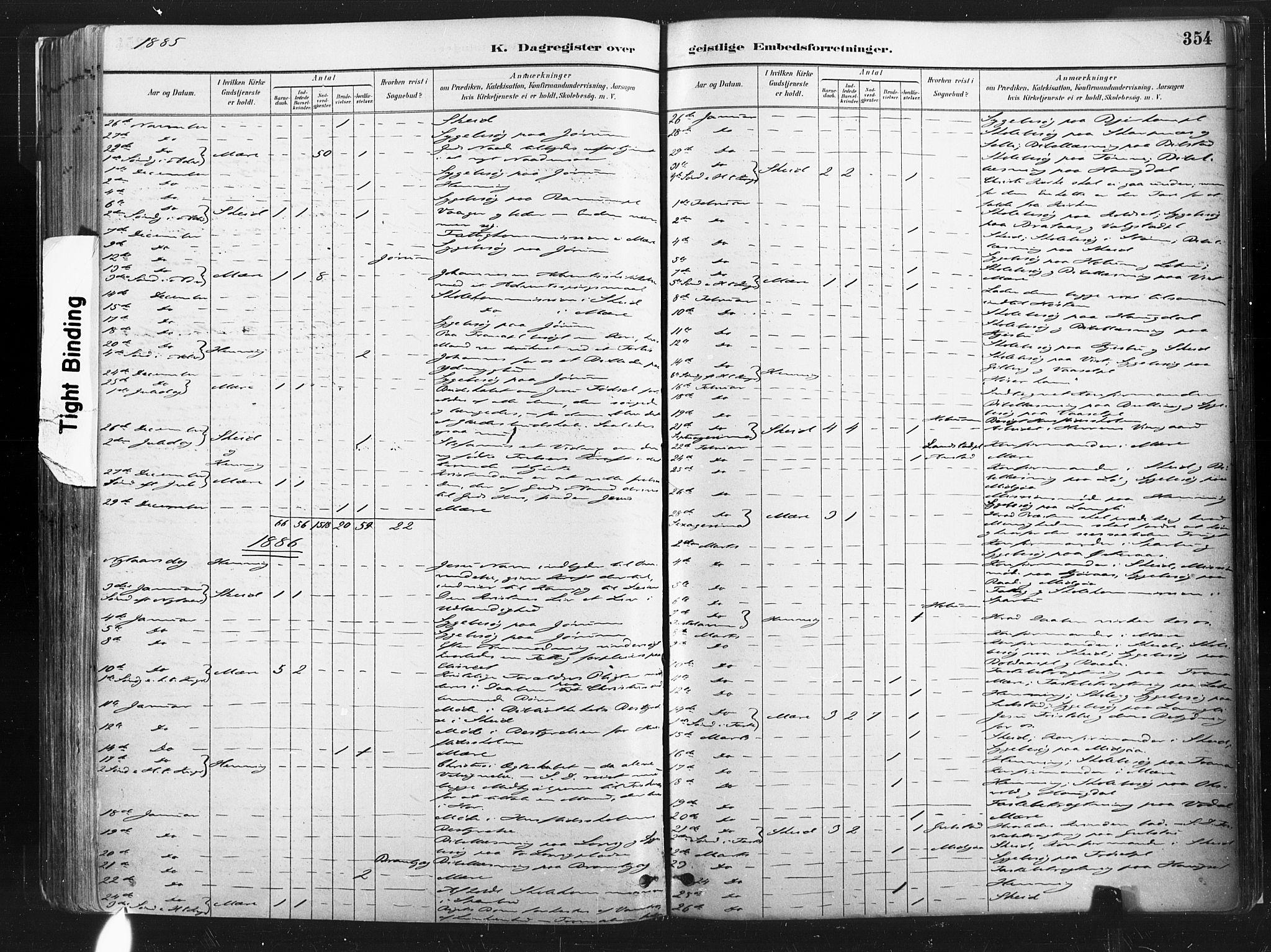 SAT, Ministerialprotokoller, klokkerbøker og fødselsregistre - Nord-Trøndelag, 735/L0351: Ministerialbok nr. 735A10, 1884-1908, s. 354