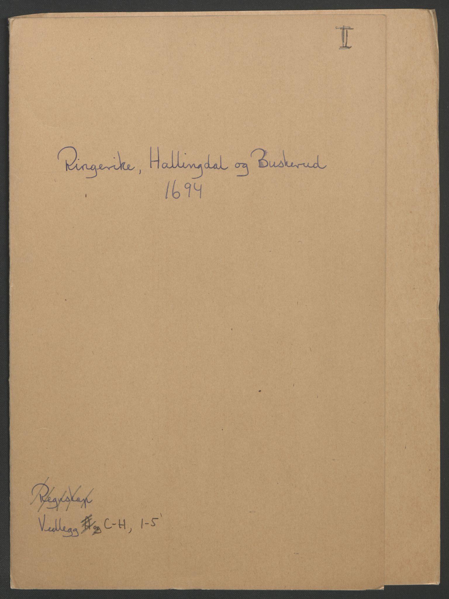 RA, Rentekammeret inntil 1814, Reviderte regnskaper, Fogderegnskap, R22/L1451: Fogderegnskap Ringerike, Hallingdal og Buskerud, 1694, s. 218