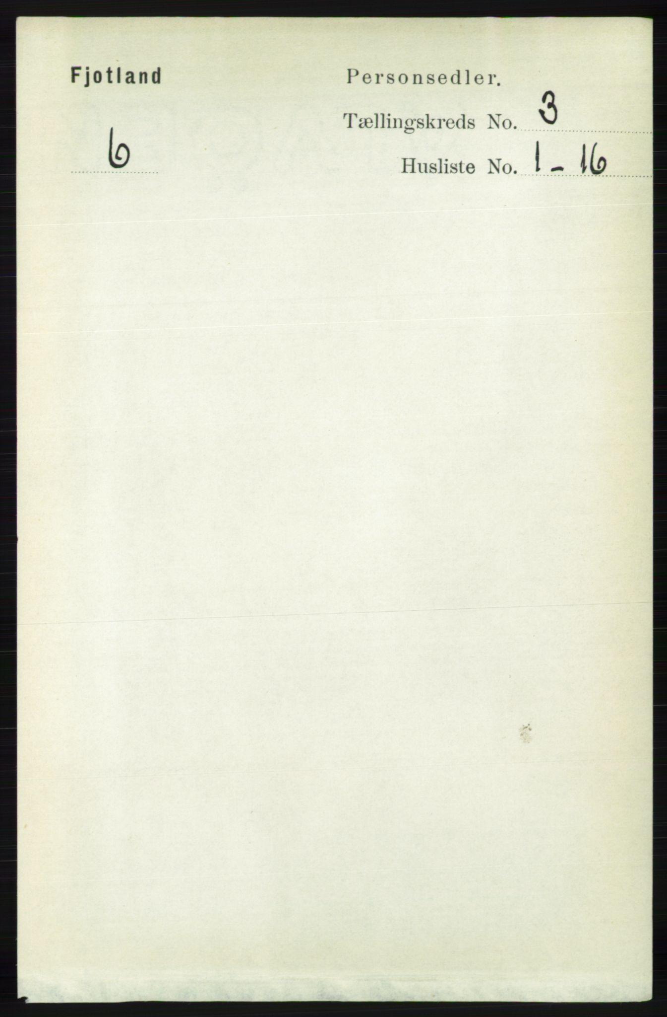 RA, Folketelling 1891 for 1036 Fjotland herred, 1891, s. 389