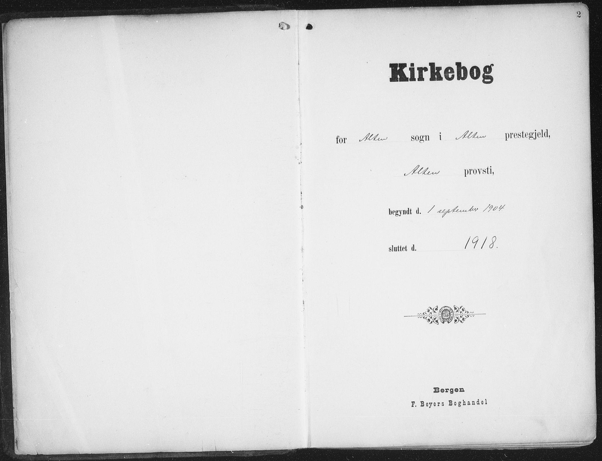 SATØ, Alta sokneprestkontor, H/Ha/L0005.kirke: Ministerialbok nr. 5, 1904-1918, s. 2