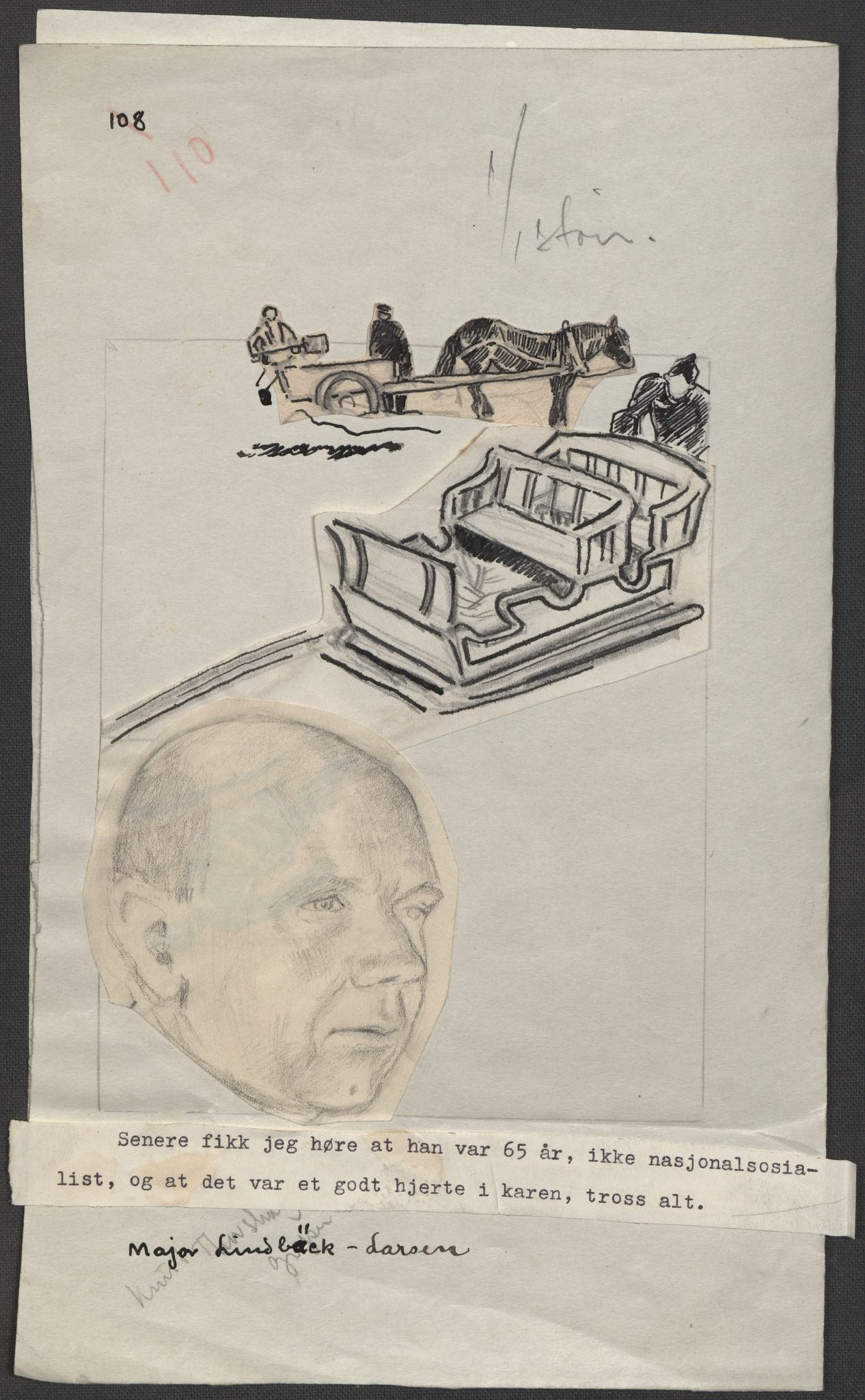 RA, Grøgaard, Joachim, F/L0002: Tegninger og tekster, 1942-1945, s. 82