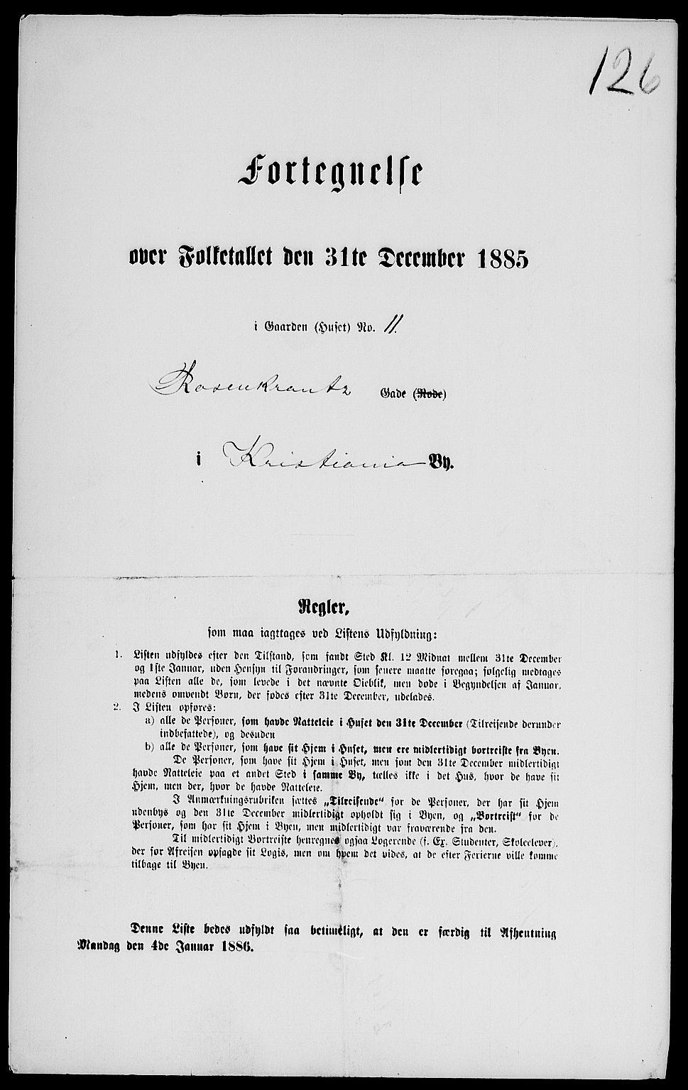 RA, Folketelling 1885 for 0301 Kristiania kjøpstad, 1885, s. 1858