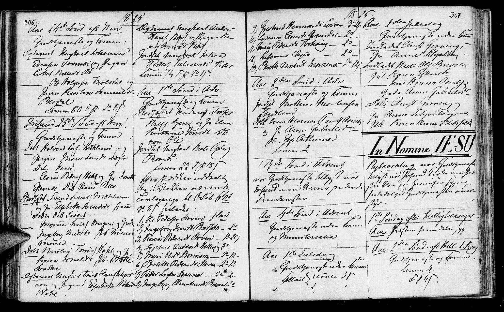 SAT, Ministerialprotokoller, klokkerbøker og fødselsregistre - Sør-Trøndelag, 655/L0674: Ministerialbok nr. 655A03, 1802-1826, s. 306-307