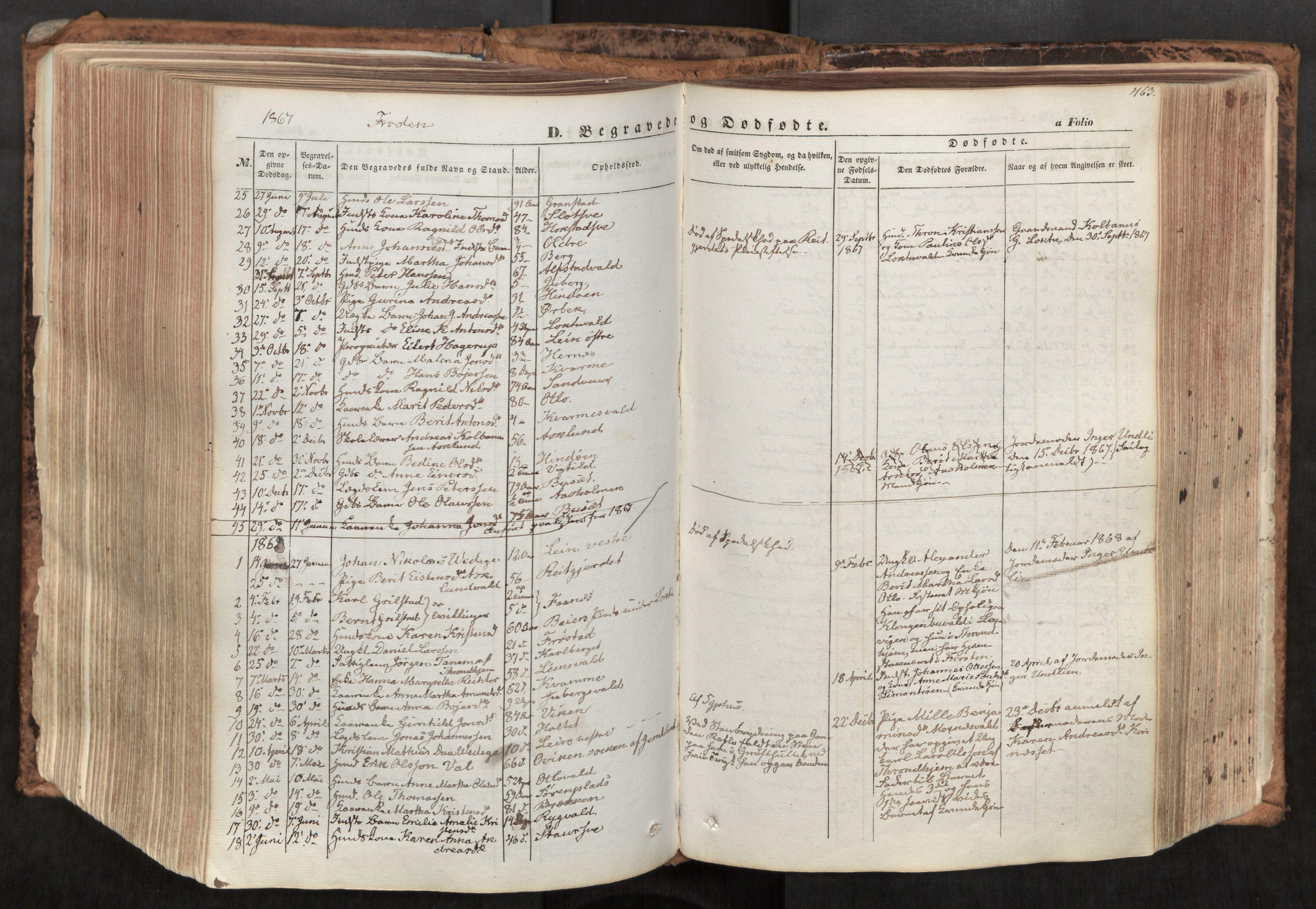 SAT, Ministerialprotokoller, klokkerbøker og fødselsregistre - Nord-Trøndelag, 713/L0116: Ministerialbok nr. 713A07, 1850-1877, s. 463