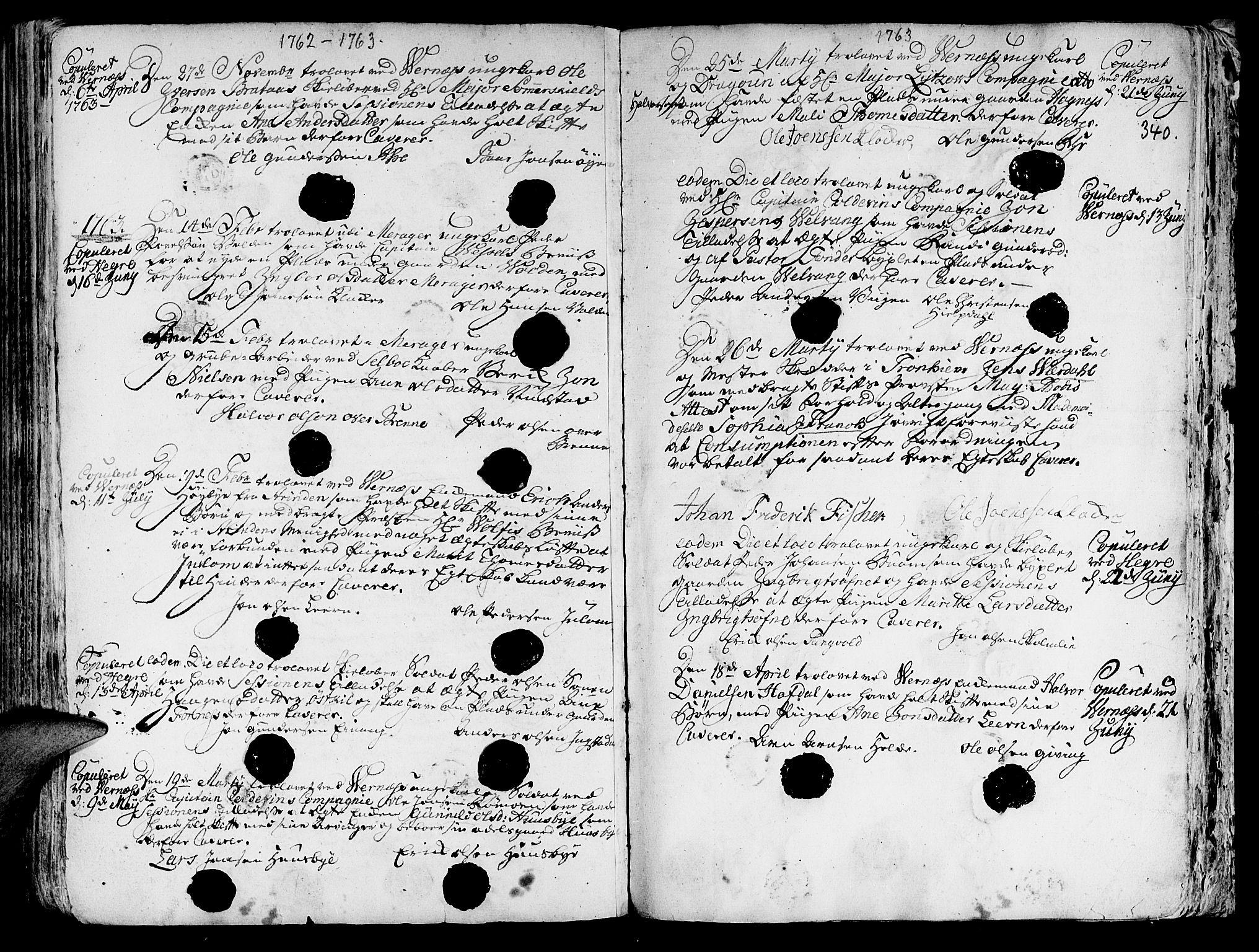SAT, Ministerialprotokoller, klokkerbøker og fødselsregistre - Nord-Trøndelag, 709/L0057: Ministerialbok nr. 709A05, 1755-1780, s. 340