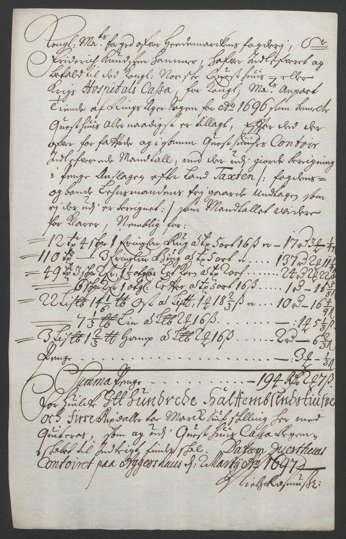 RA, Rentekammeret inntil 1814, Reviderte regnskaper, Fogderegnskap, R16/L1036: Fogderegnskap Hedmark, 1695-1696, s. 427