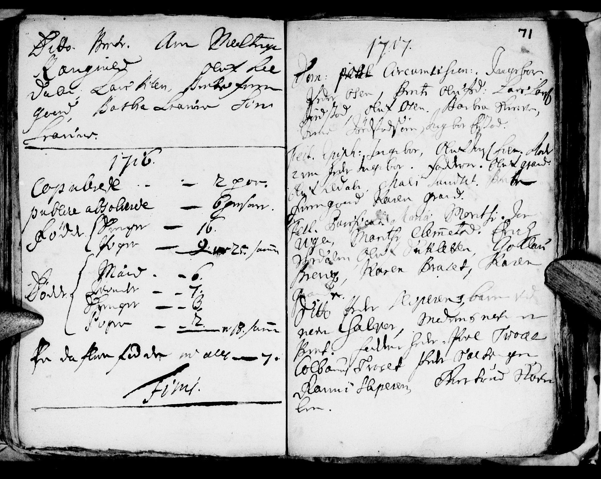 SAT, Ministerialprotokoller, klokkerbøker og fødselsregistre - Nord-Trøndelag, 722/L0214: Ministerialbok nr. 722A01, 1692-1718, s. 71