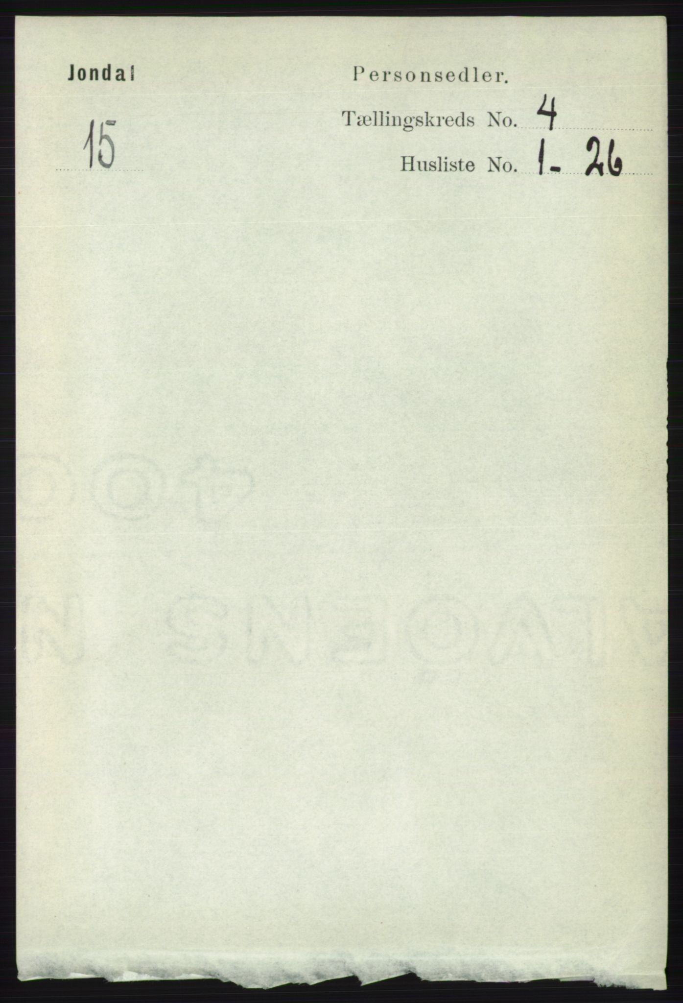 RA, Folketelling 1891 for 1227 Jondal herred, 1891, s. 2060