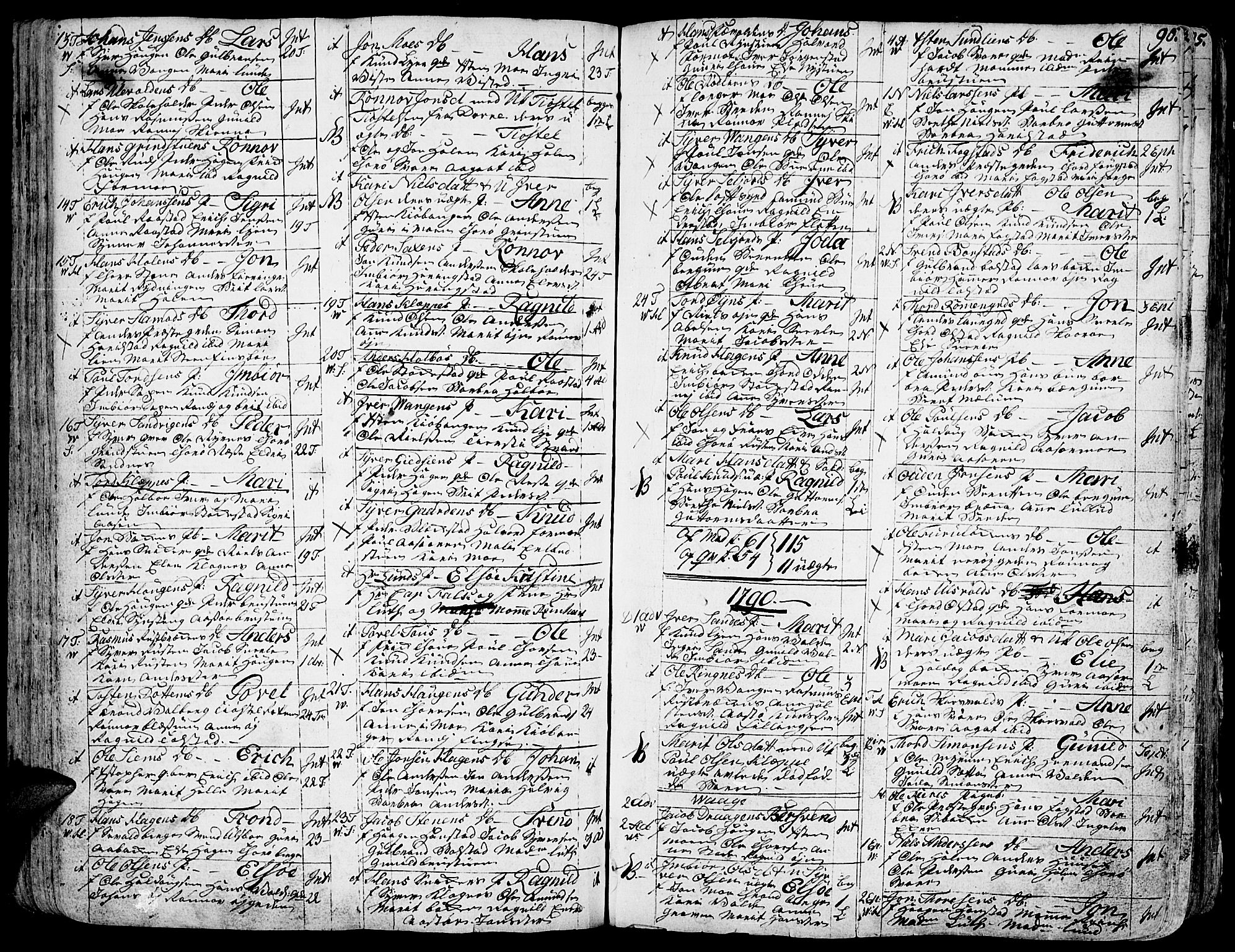 SAH, Vågå prestekontor, Ministerialbok nr. 1, 1739-1810, s. 90