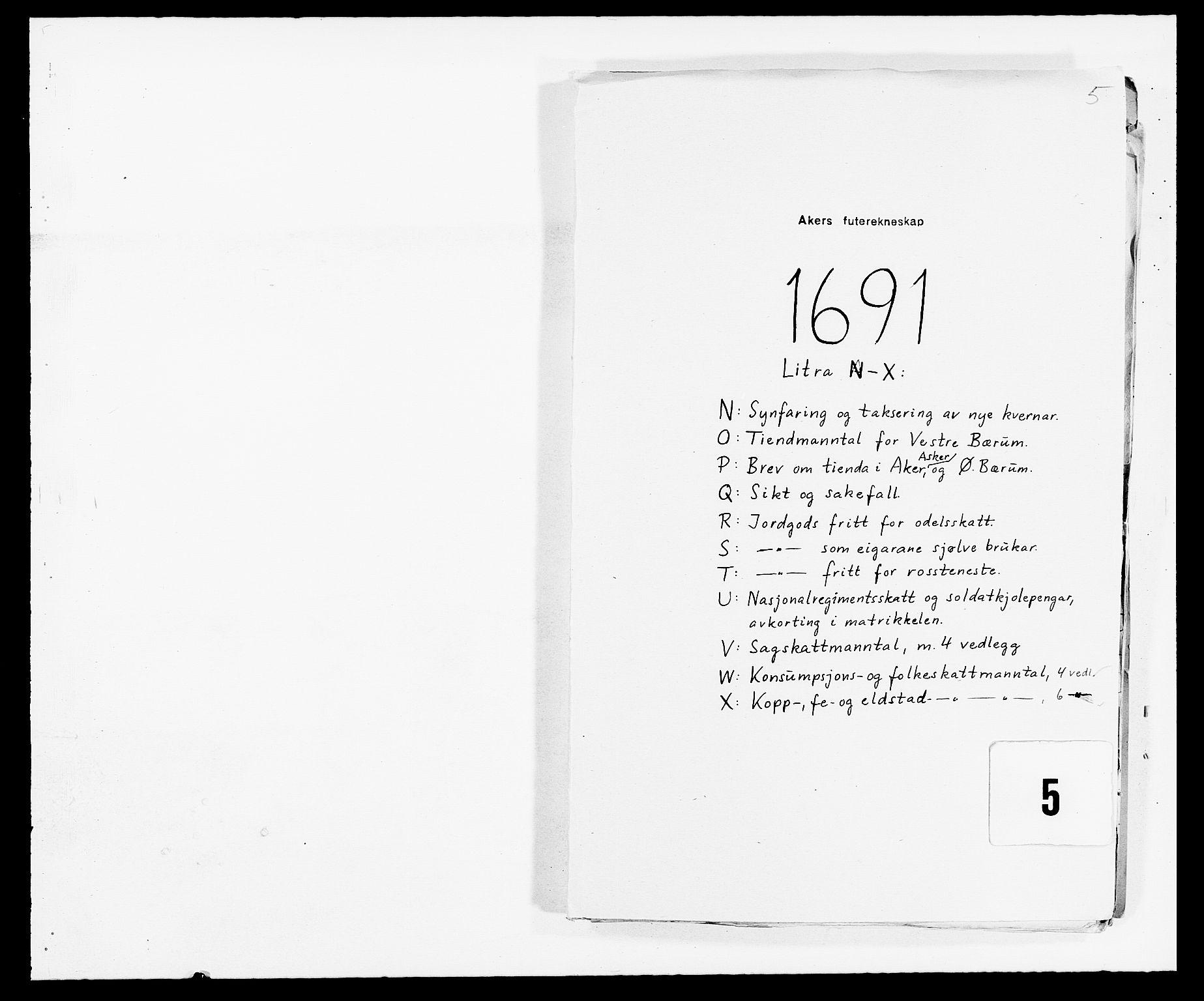 RA, Rentekammeret inntil 1814, Reviderte regnskaper, Fogderegnskap, R08/L0423: Fogderegnskap Aker, 1687-1689, s. 261