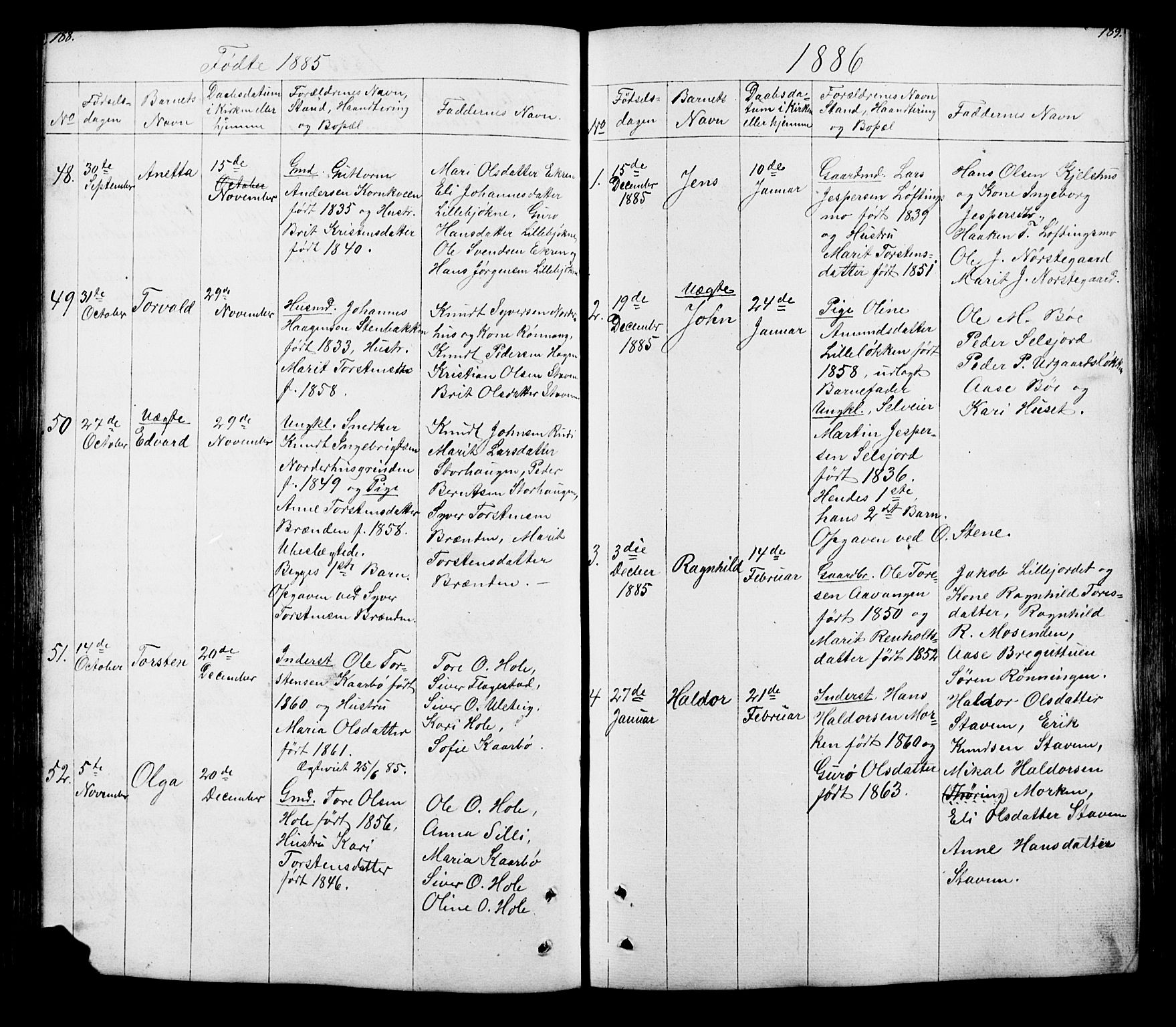 SAH, Lesja prestekontor, Klokkerbok nr. 5, 1850-1894, s. 188-189