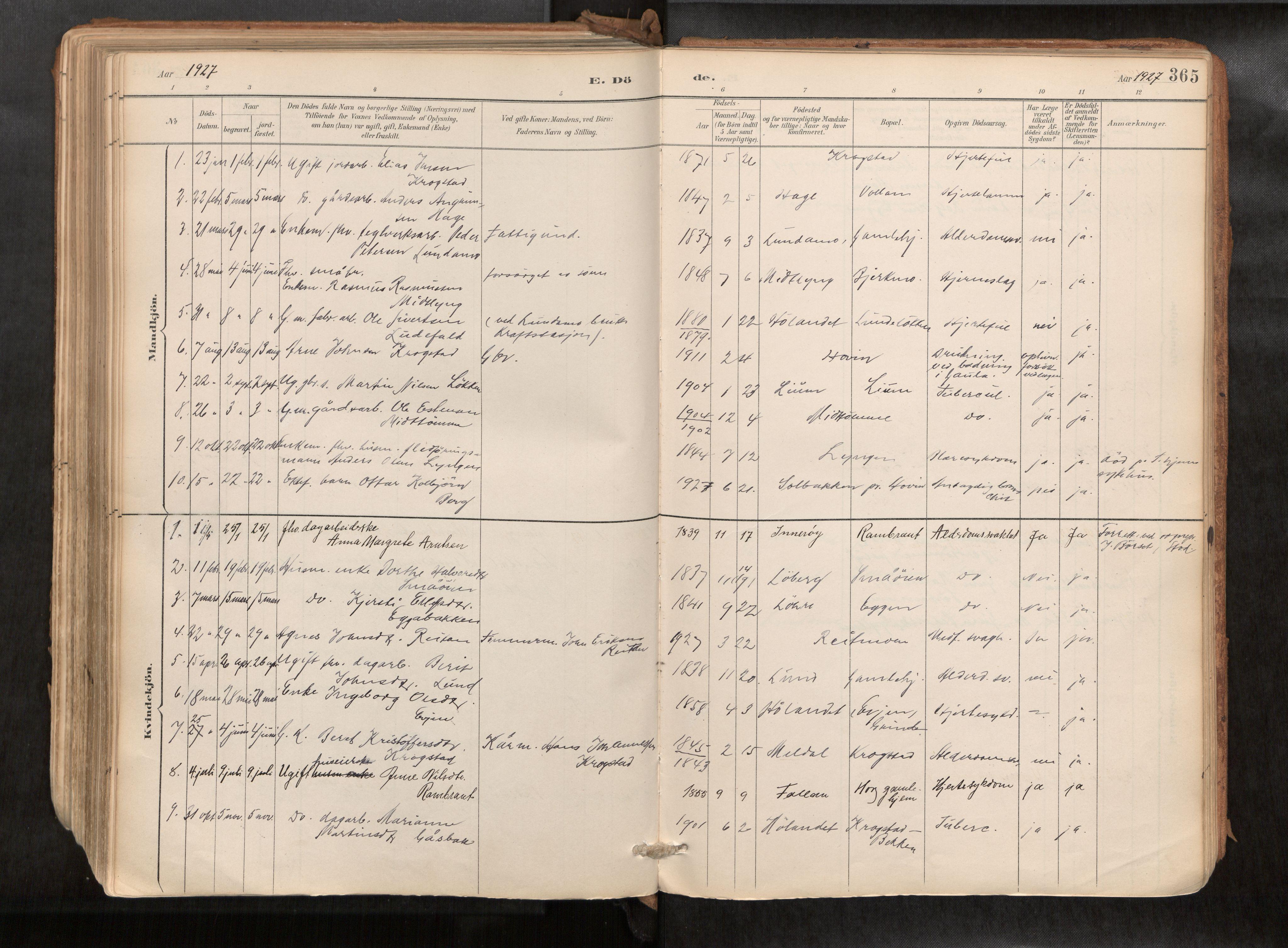 SAT, Ministerialprotokoller, klokkerbøker og fødselsregistre - Sør-Trøndelag, 692/L1105b: Ministerialbok nr. 692A06, 1891-1934, s. 365