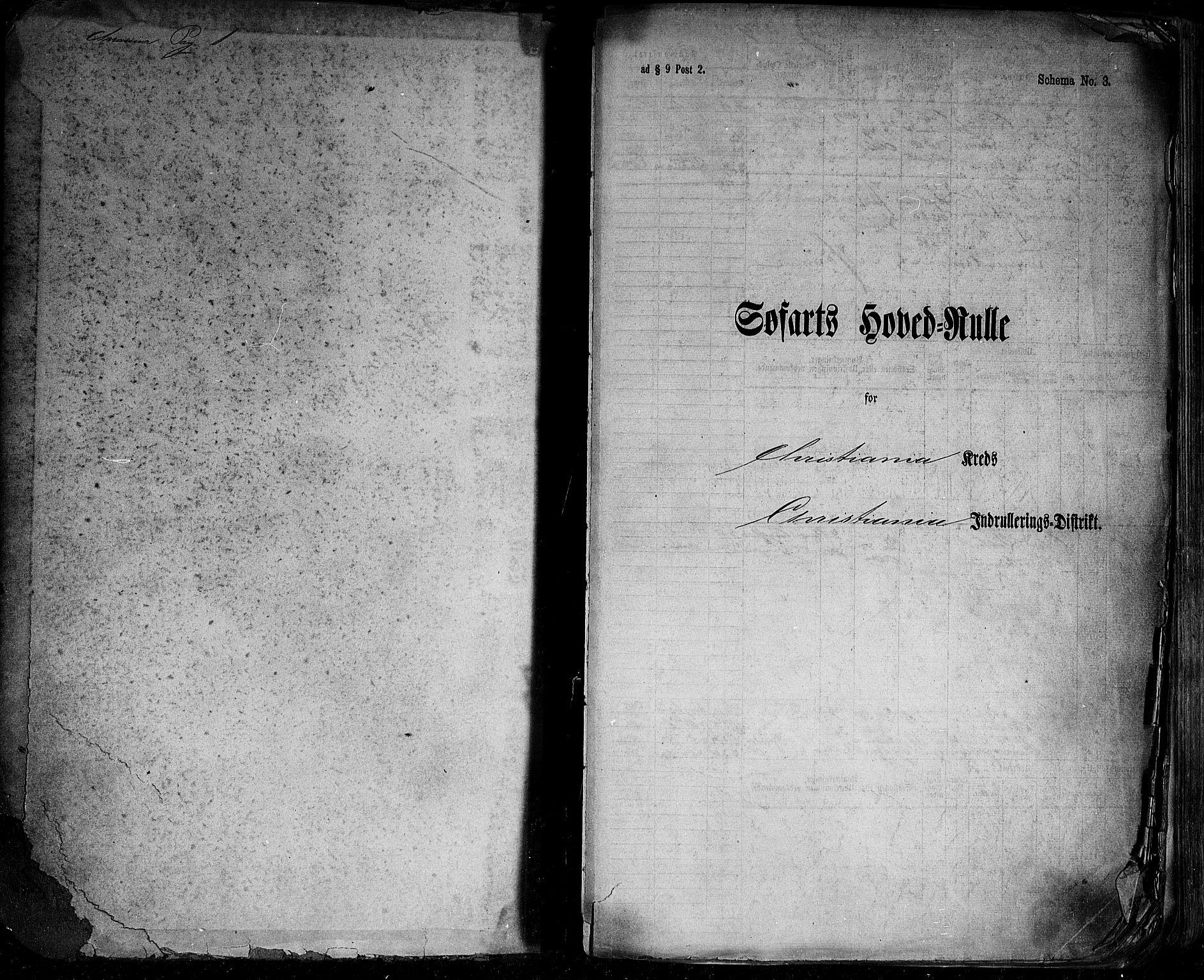 SAO, Oslo mønstringskontor, F/Fc/Fcb/L0004: Hovedrulle, 1868-1873, s. upaginert