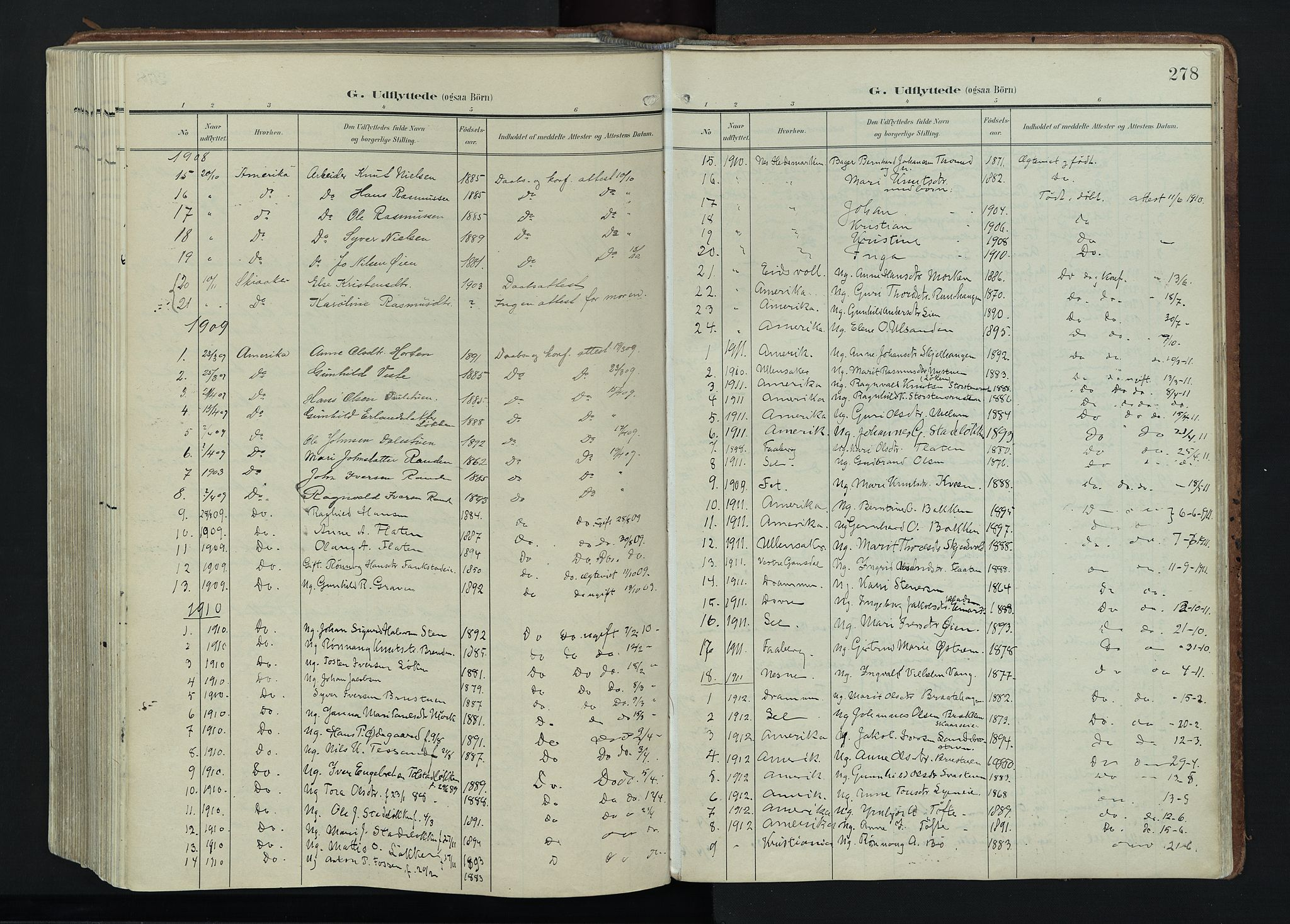 SAH, Vågå prestekontor, Ministerialbok nr. 11, 1905-1924, s. 278