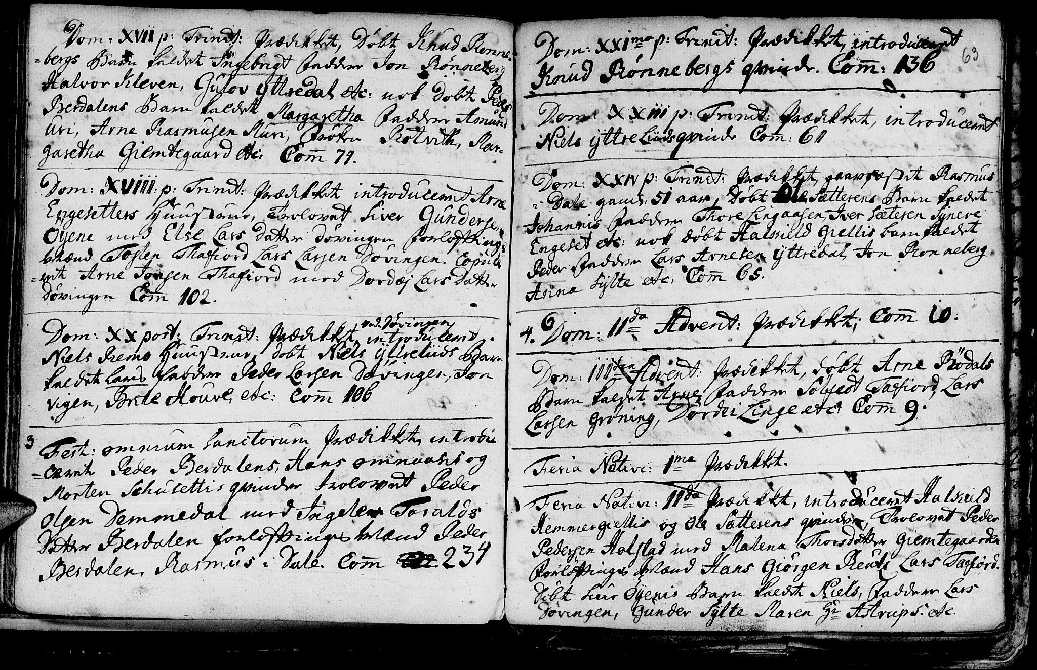 SAT, Ministerialprotokoller, klokkerbøker og fødselsregistre - Møre og Romsdal, 519/L0240: Ministerialbok nr. 519A01 /1, 1736-1760, s. 63
